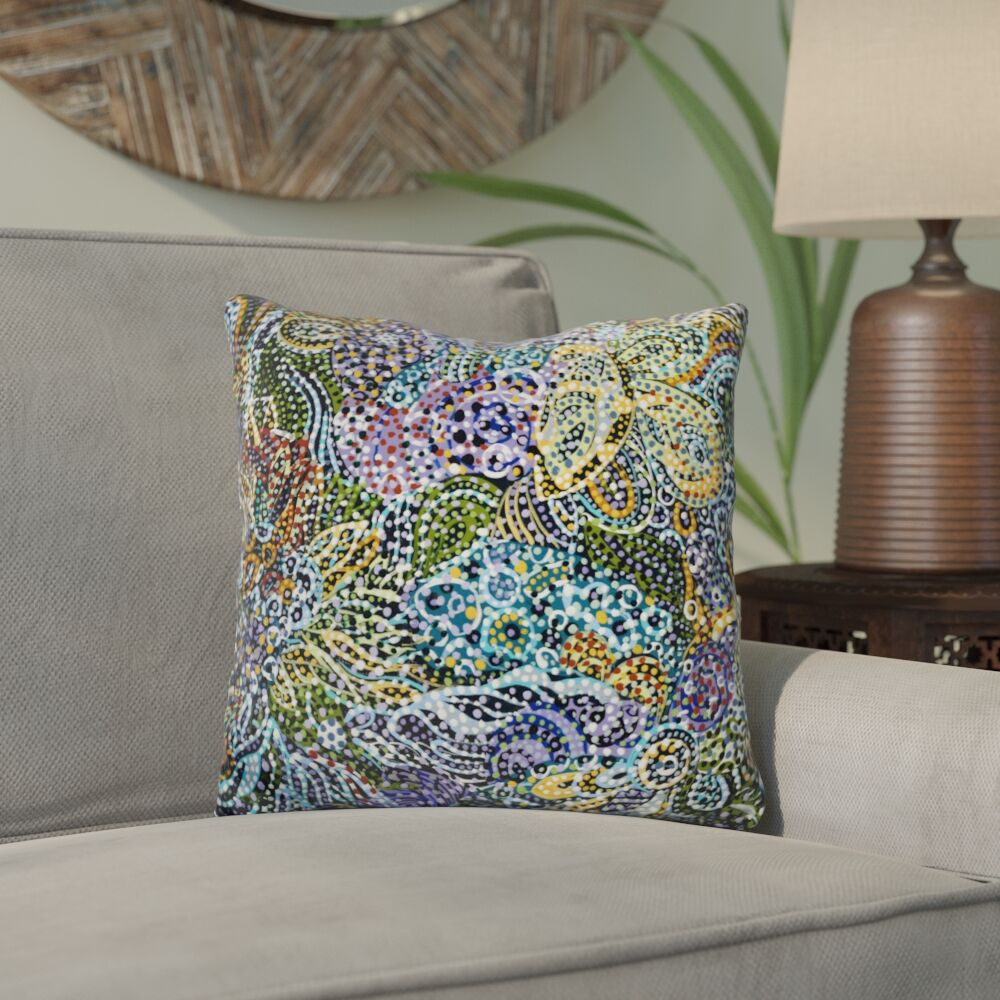 Eddyville Late Snow Throw Pillow