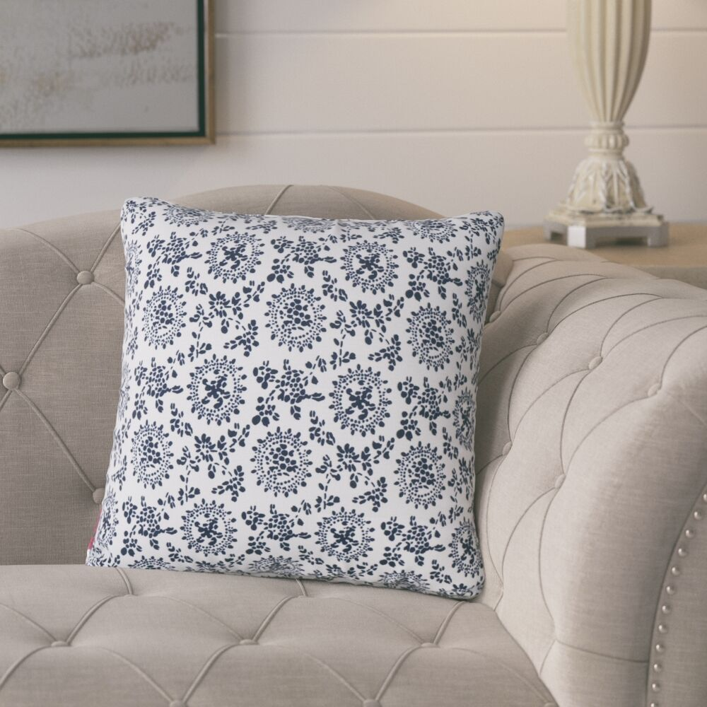 Leaper Modern Throw Pillow Pillow Cover Color: White