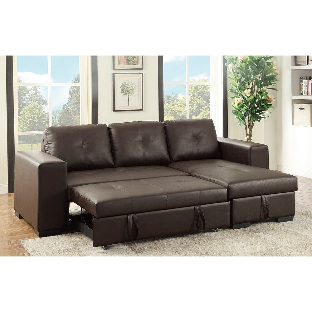 Macarthur Sleeper Sectional Upholstery: Brown