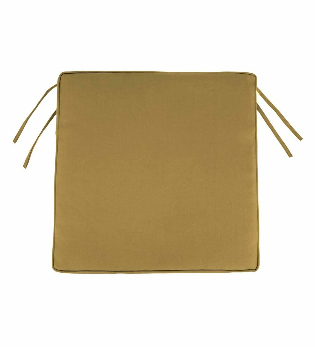 Indoor/Outdoor Dining Chair Cushion Fabric: Khaki, Size: 3