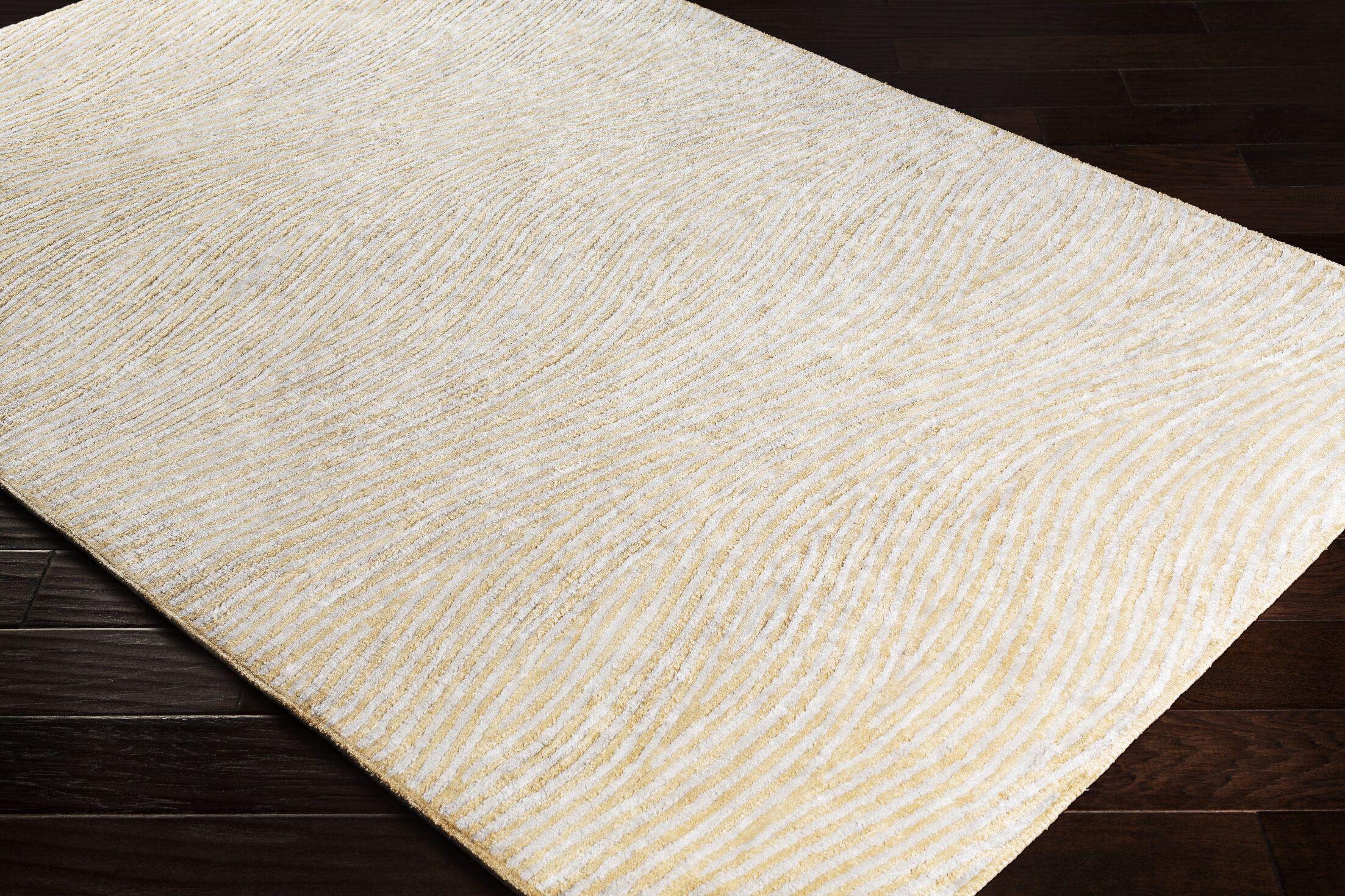 Alverez Hand-Woven Khaki/Gray Area Rug Rug Size: Rectangle 4' x 6'