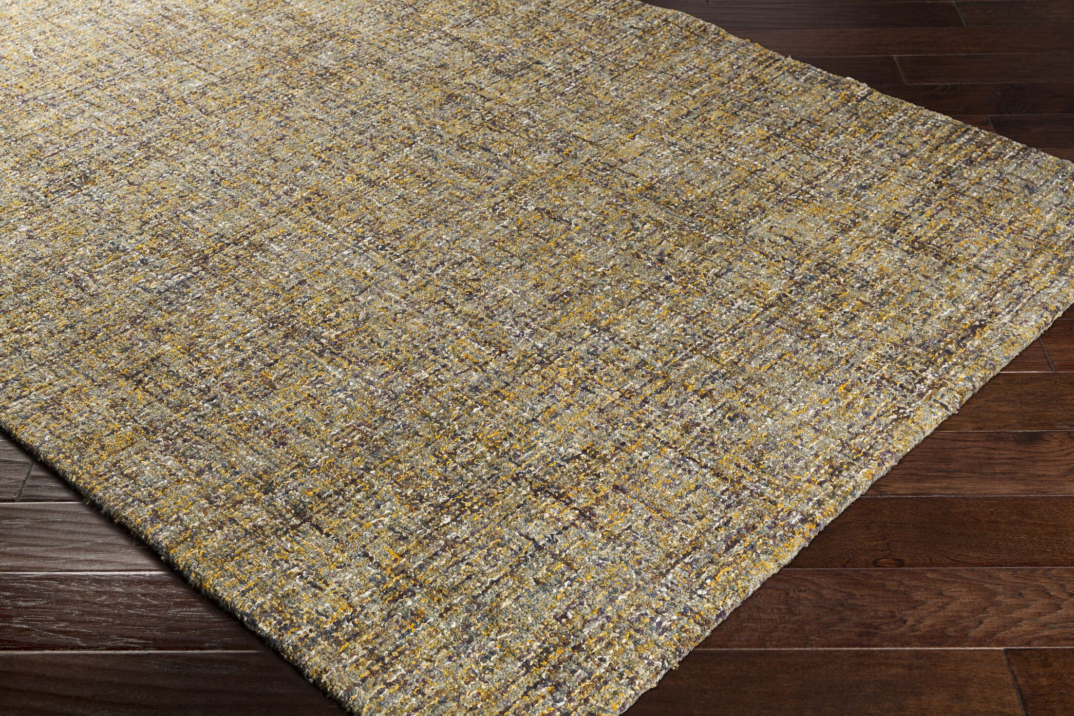 Charboneau Hand-Tufted Yellow/Brown Area Rug Rug Size: Rectangle 2' x 3'