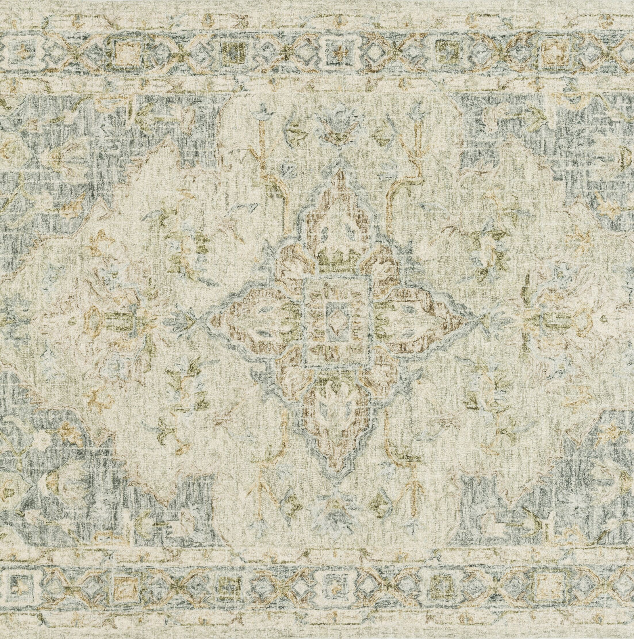 Fitzwater Hand-Hooked Wool Seafoam Green/Spa Area Rug Rug Size: Rectangle 2'6