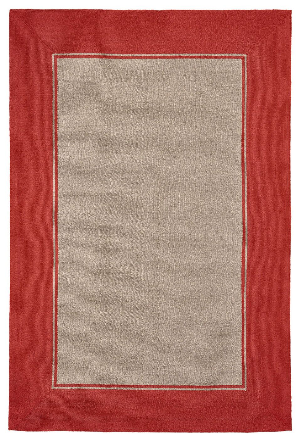Elam Border Hand-Woven Orange/Beige Indoor/Outdoor Area Rug Rug Size: Rectangle 3'5
