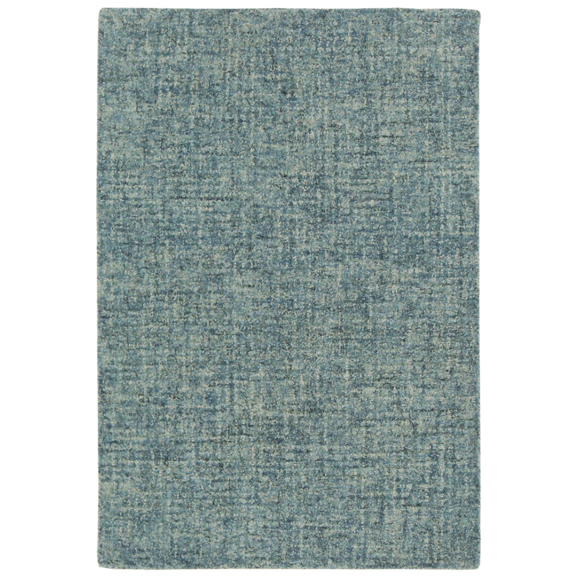 Hunsberger Hand-Woven Wool Blue Area Rug Rug Size: Rectangle 7'5