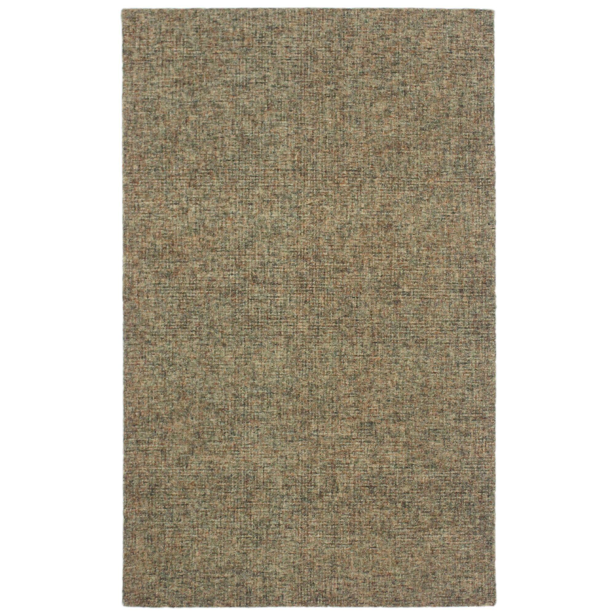 Hunsberger Hand-Woven Wool Khaki Area Rug Rug Size: Runner 2'3
