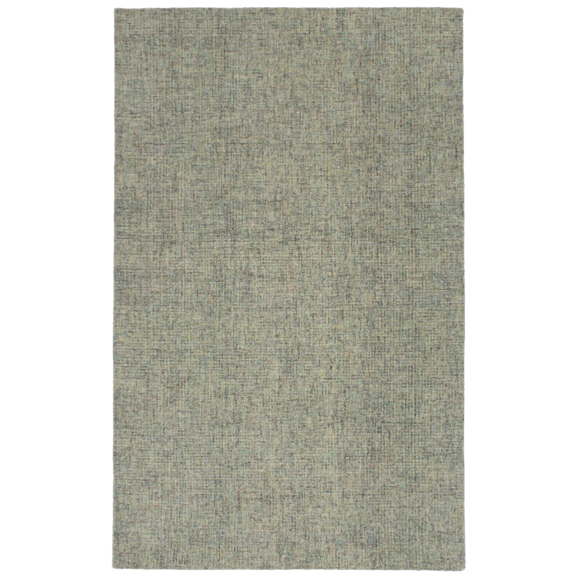 Hunsberger Hand-Woven Wool Gray Area Rug Rug Size: Rectangle 7'5