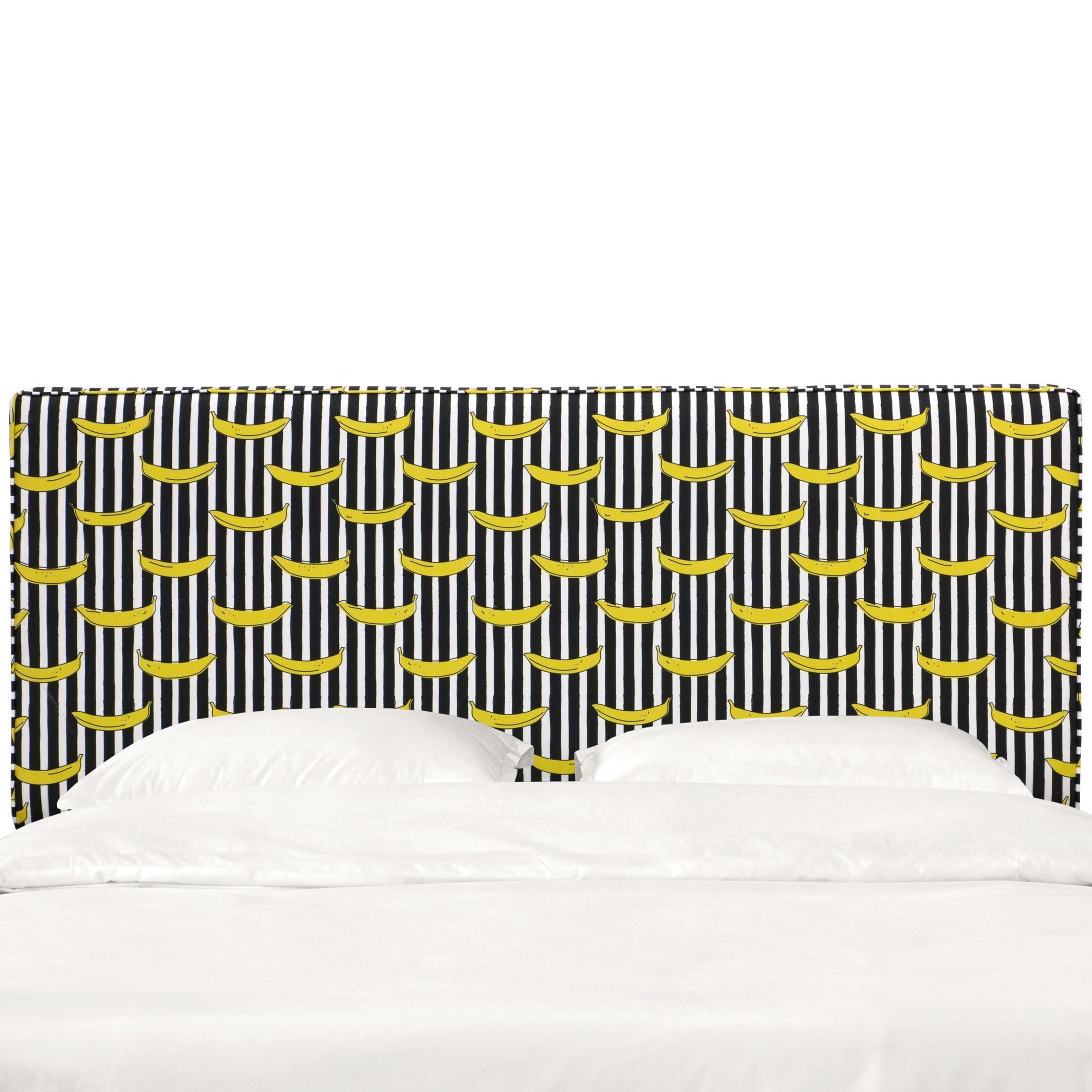 Eakes Seam Upholstered Panel Headboard Size: King