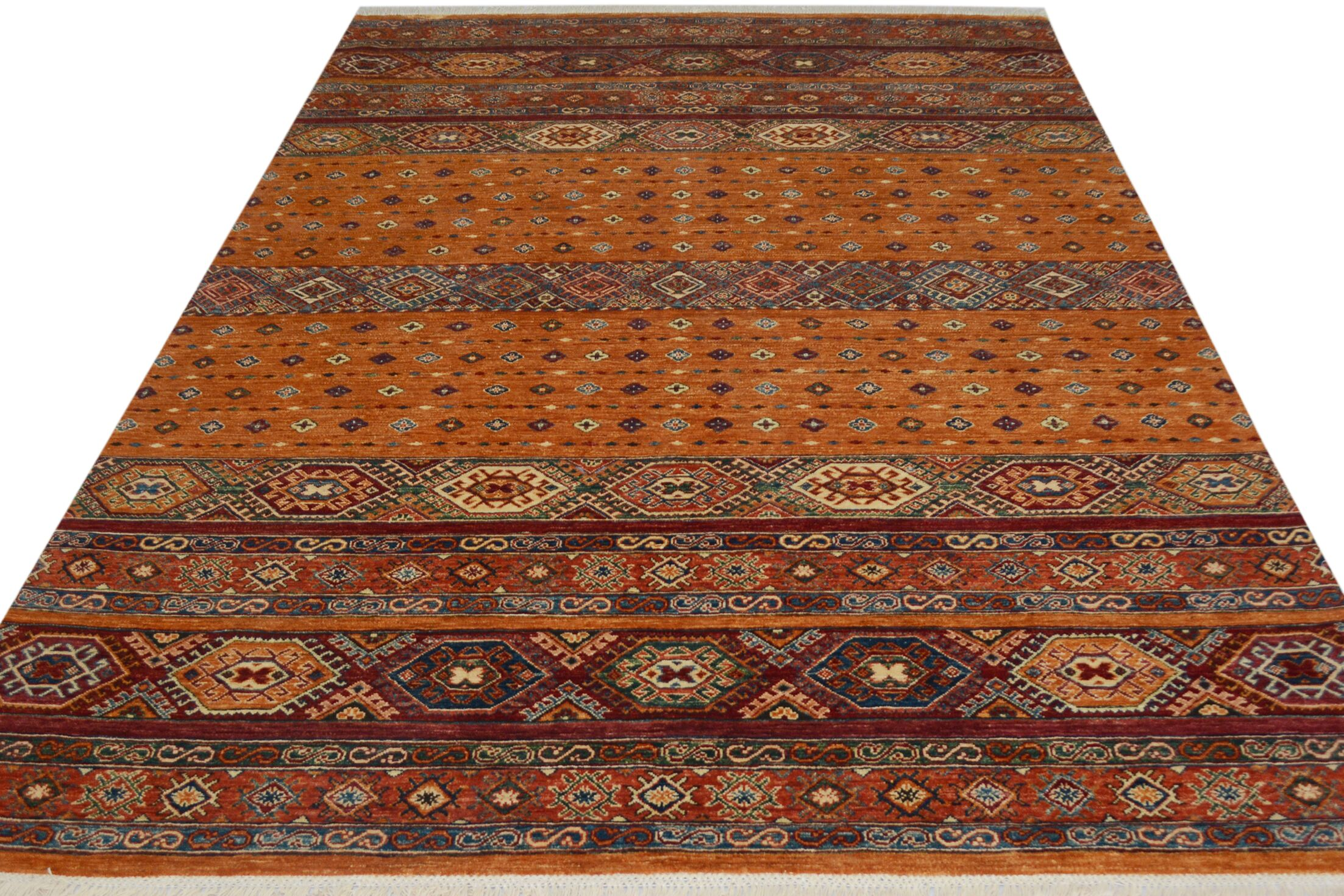 One-of-a-Kind Palmore Hand-Knotted Wool Orange/Gold Area Rug