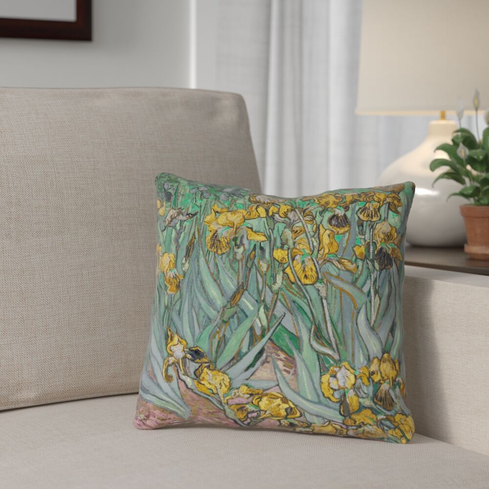 Bristol Woods Irises Pillow Cover Size: 26