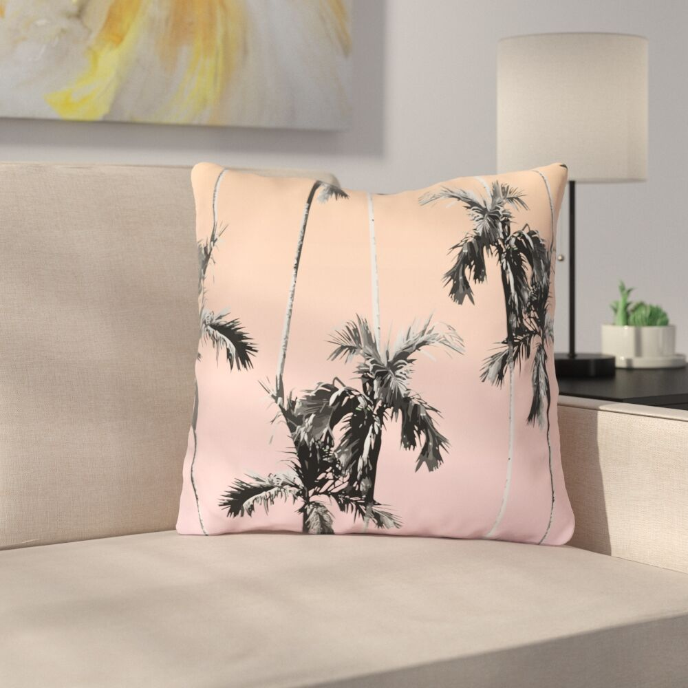 Wellington Graphic Print Throw Pillow Size: 16