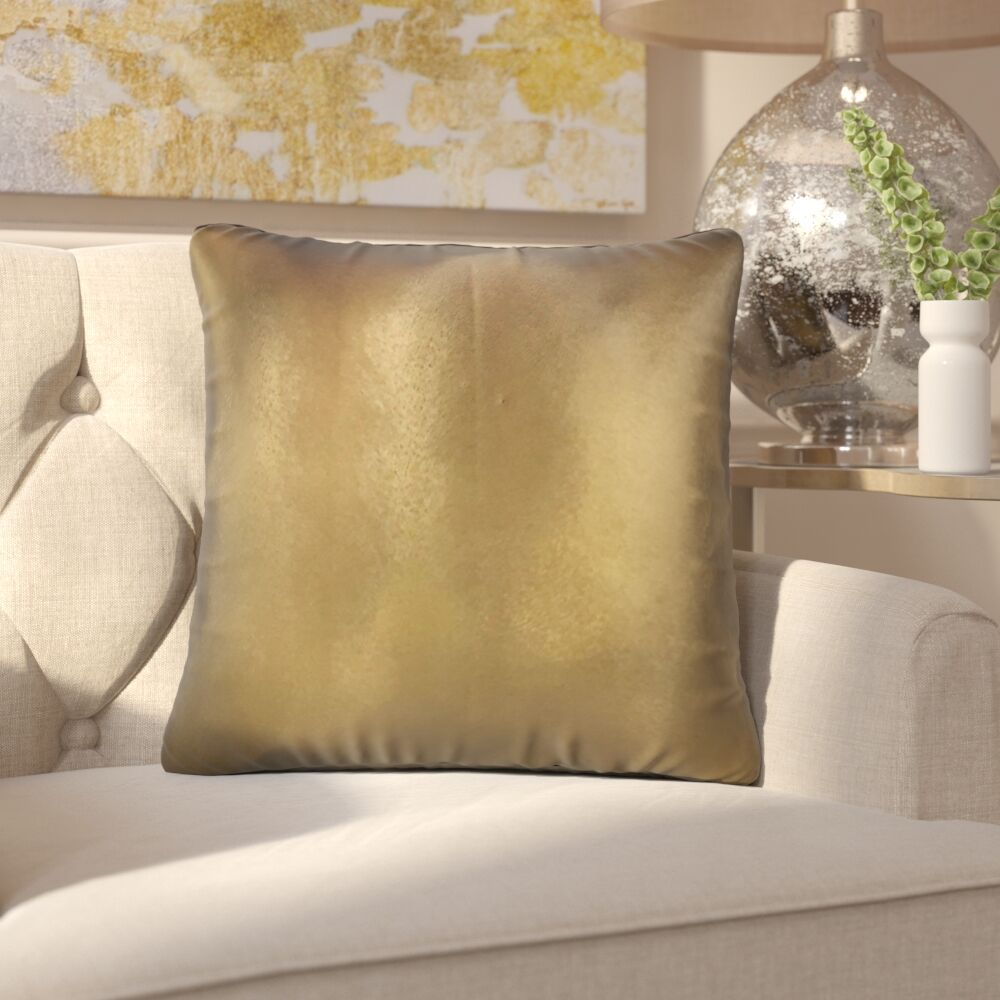 Huang Solid Down Filled Throw Pillow Size: 20