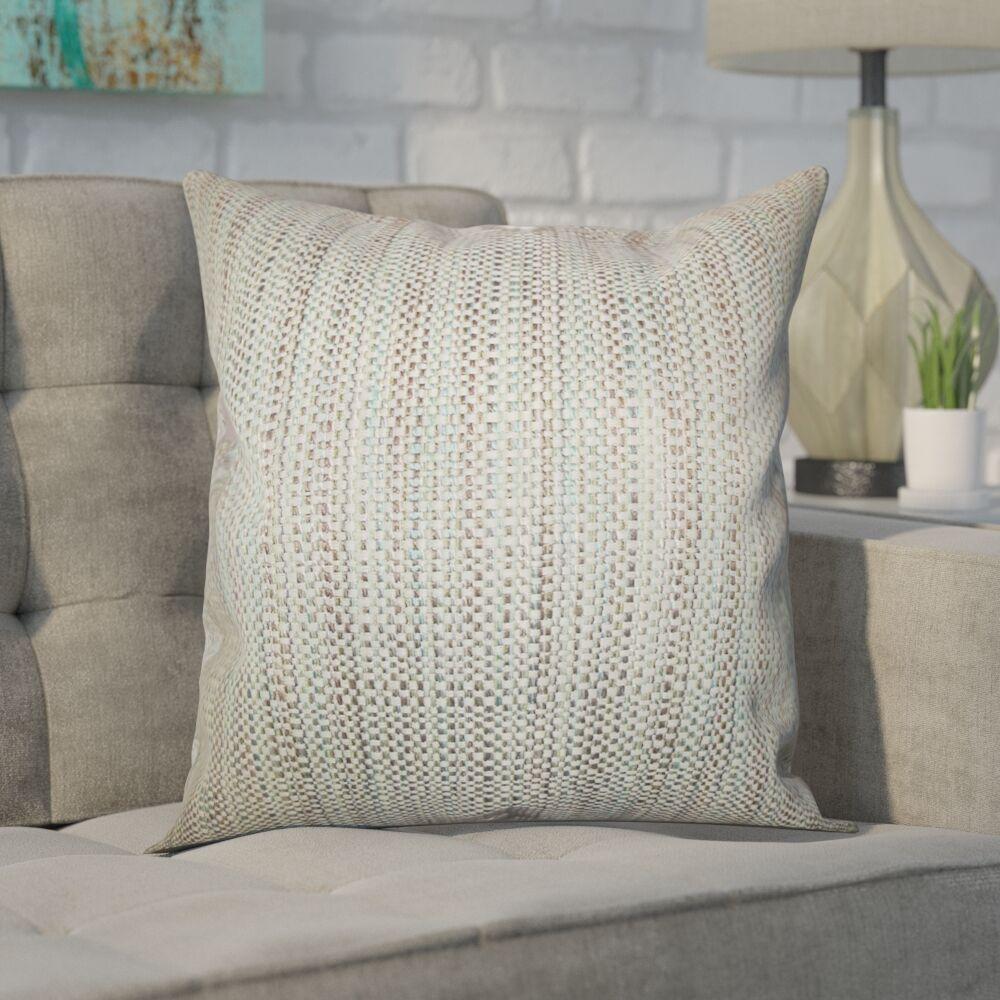 Kardos Throw Pillow Color: Aqua, Size: 20