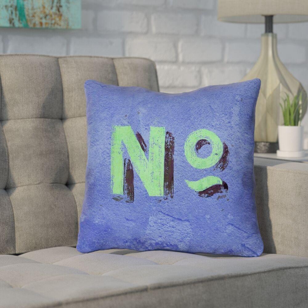 Enciso Graphic Wall Outdoor Throw Pillow Size: 20