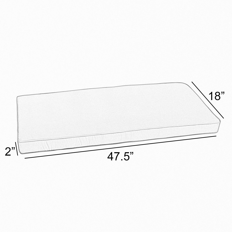 Indoor/Outdoor Sunbrella Bench Cushion Size: 2