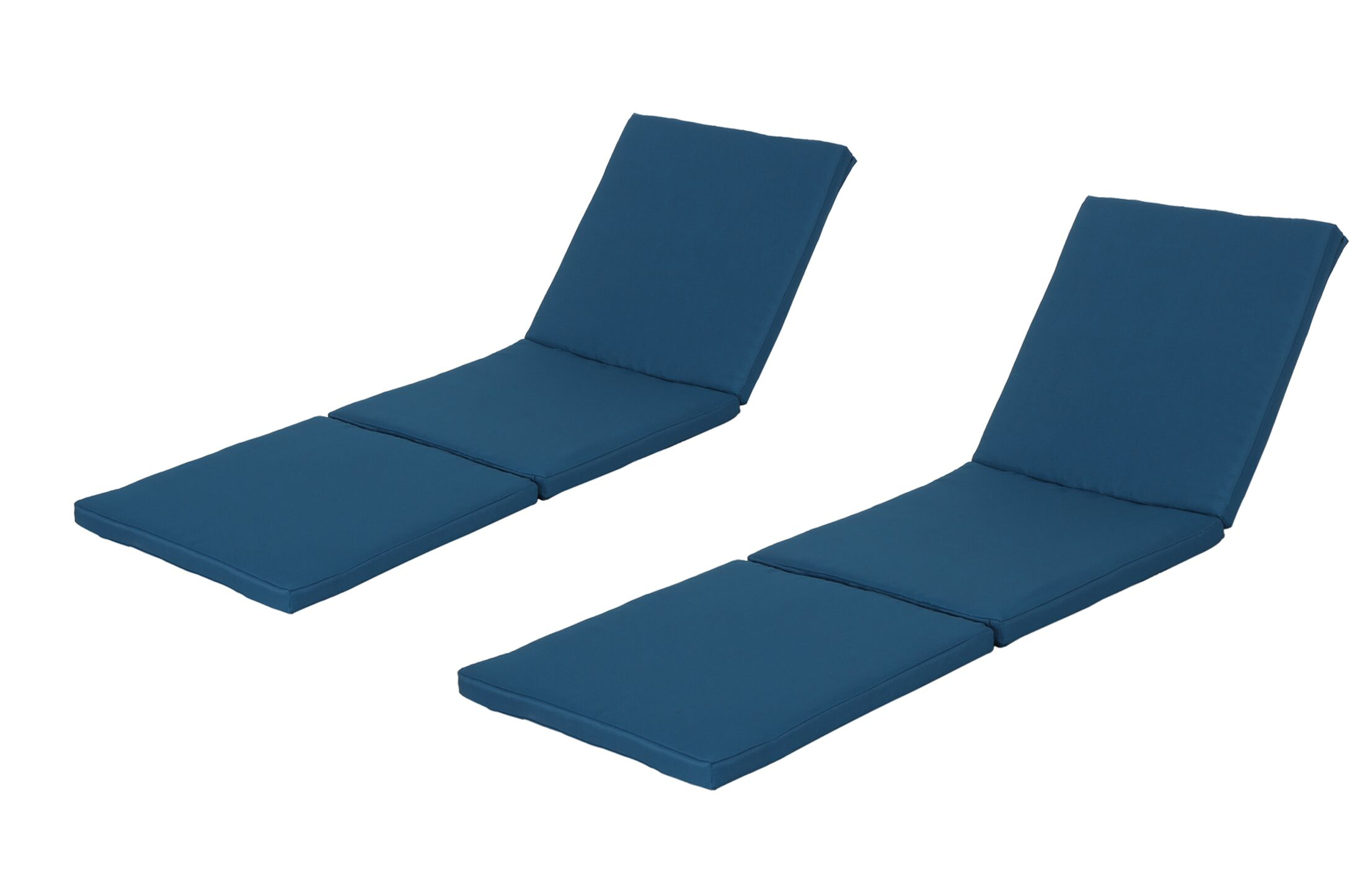 Indoor/Outdoor Chaise Lounge Cushion Fabric: Blue