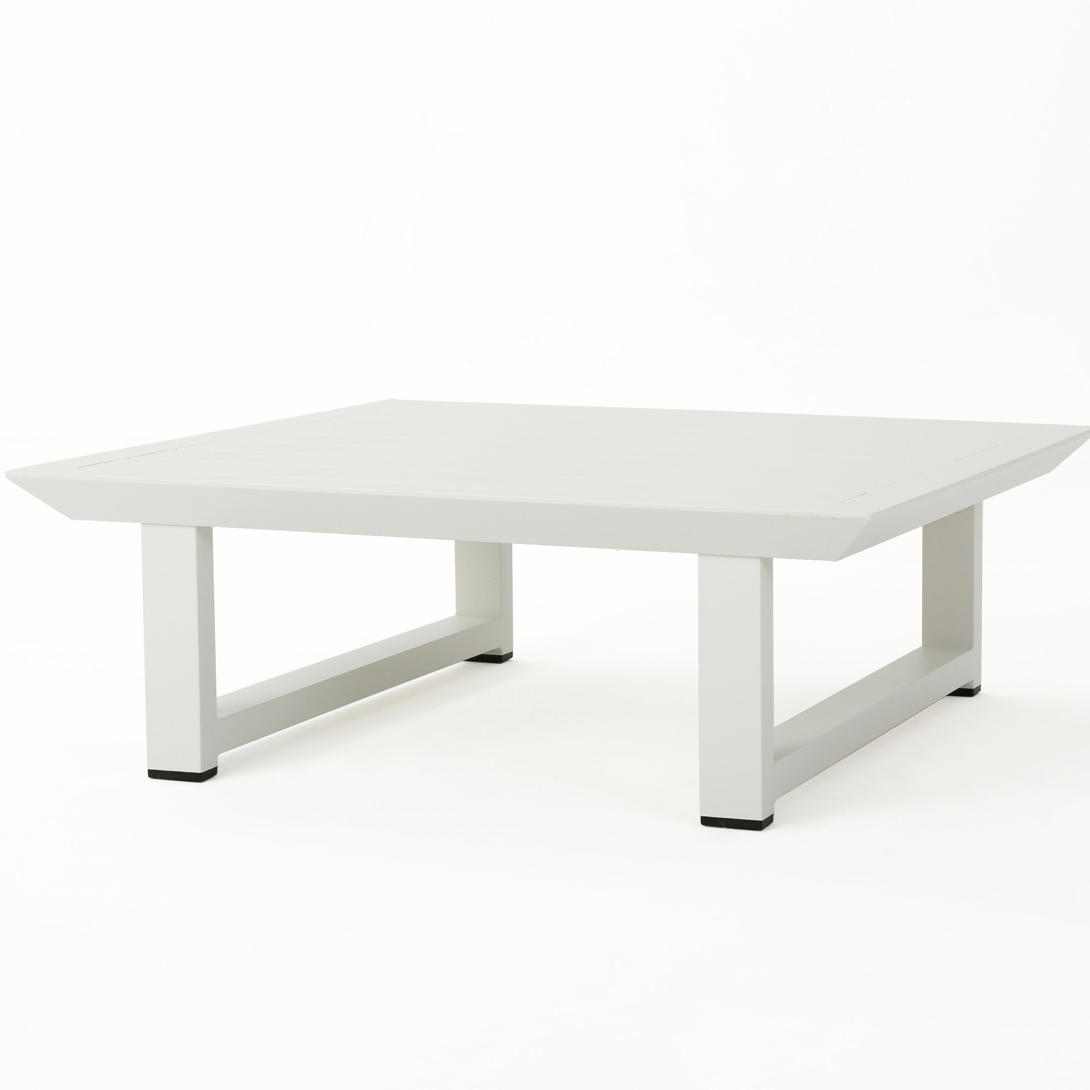 Fricks Rust-Proof Aluminum Coffee Table Color: White