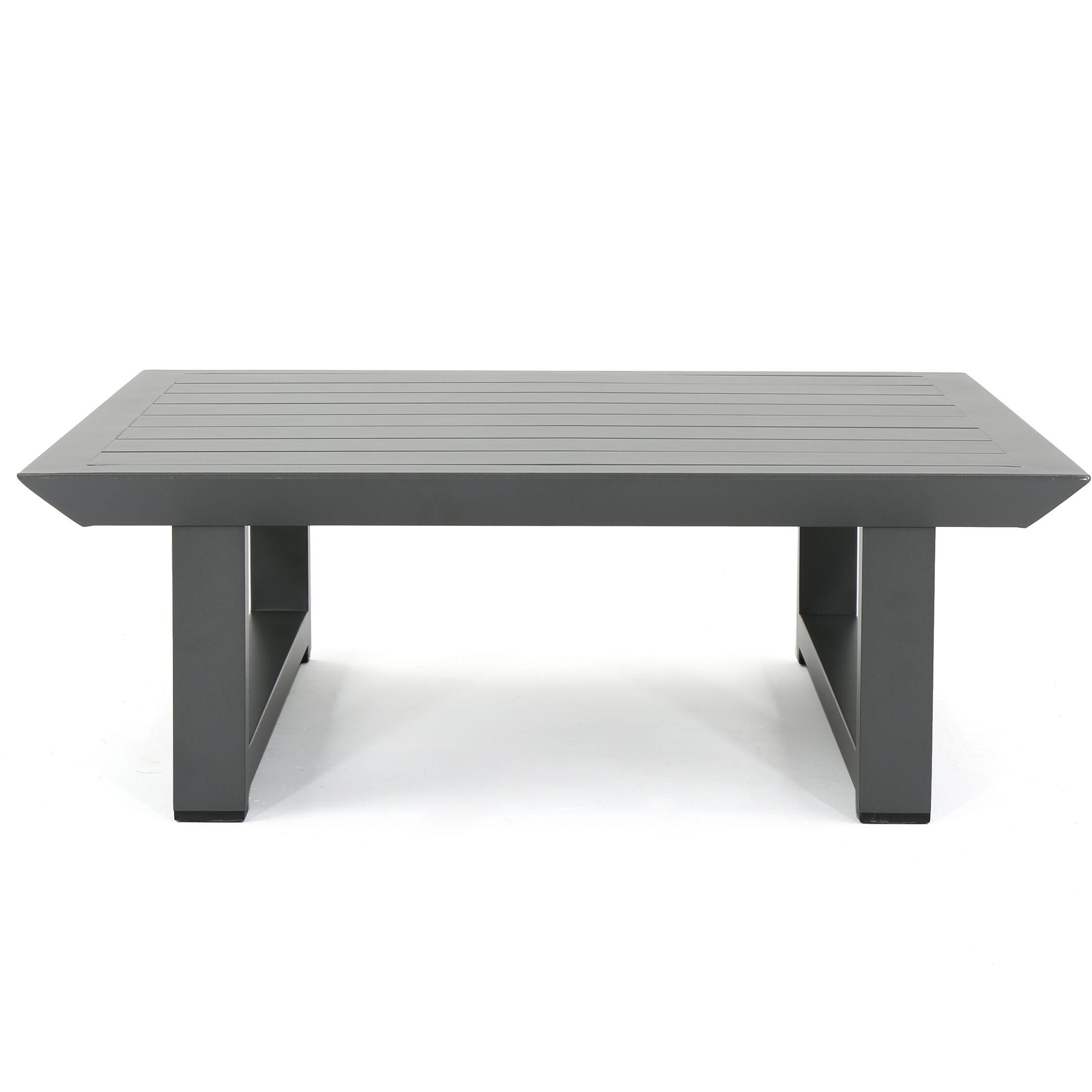 Fricks Rust-Proof Aluminum Coffee Table Color: Grey