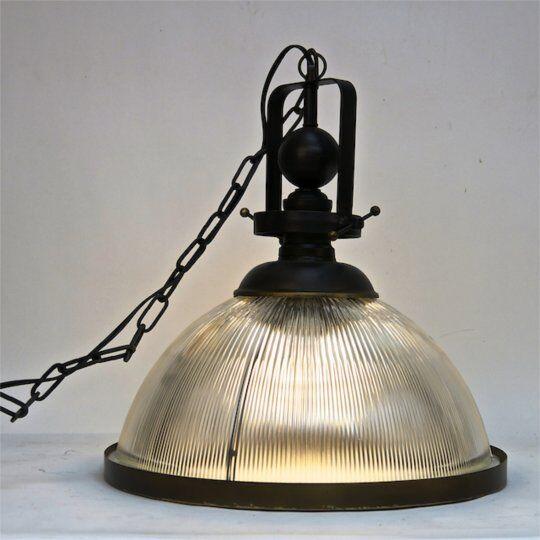 Eastland Metal and Glass 1-Light Pendant