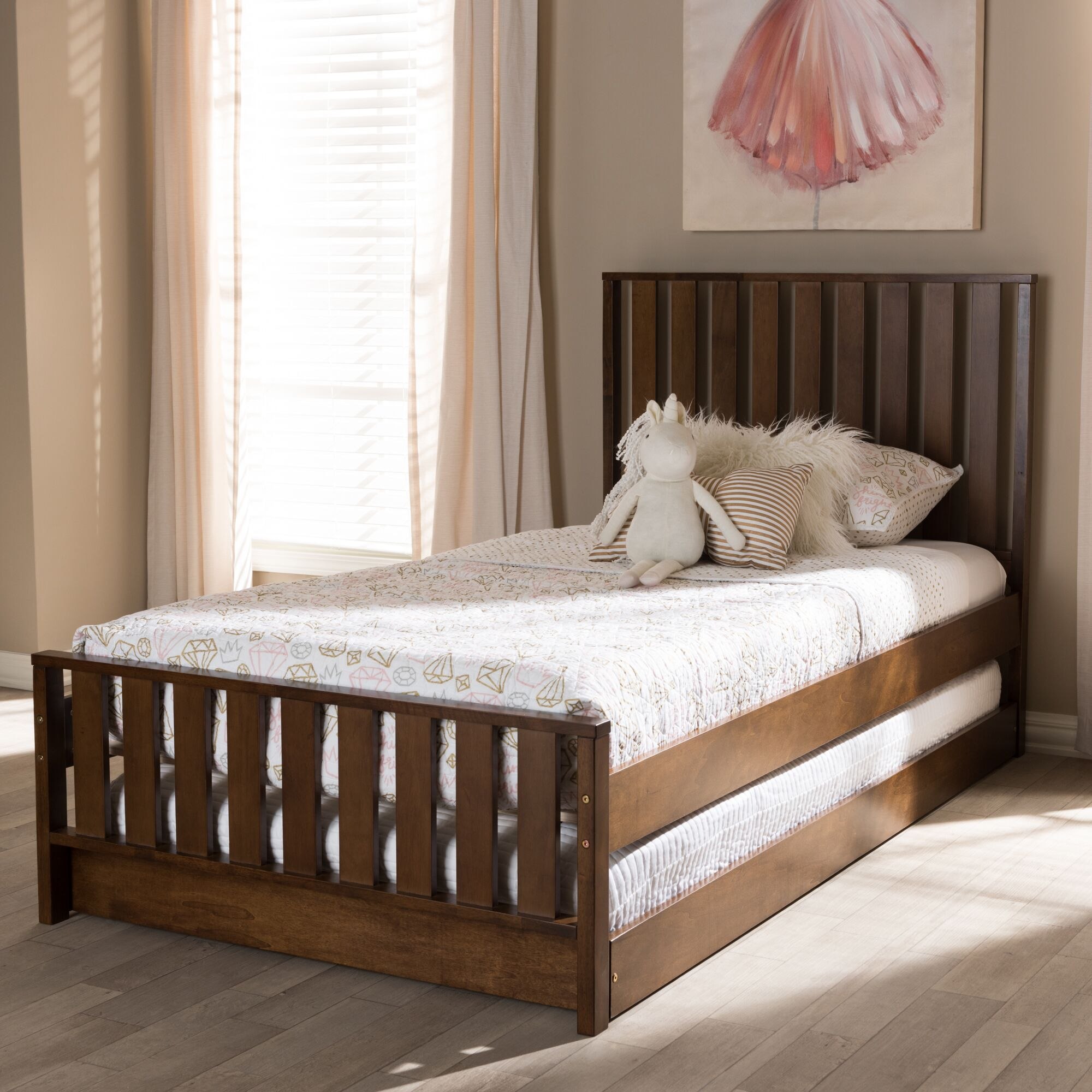 Dolph Twin Platform Bed Color: Brown