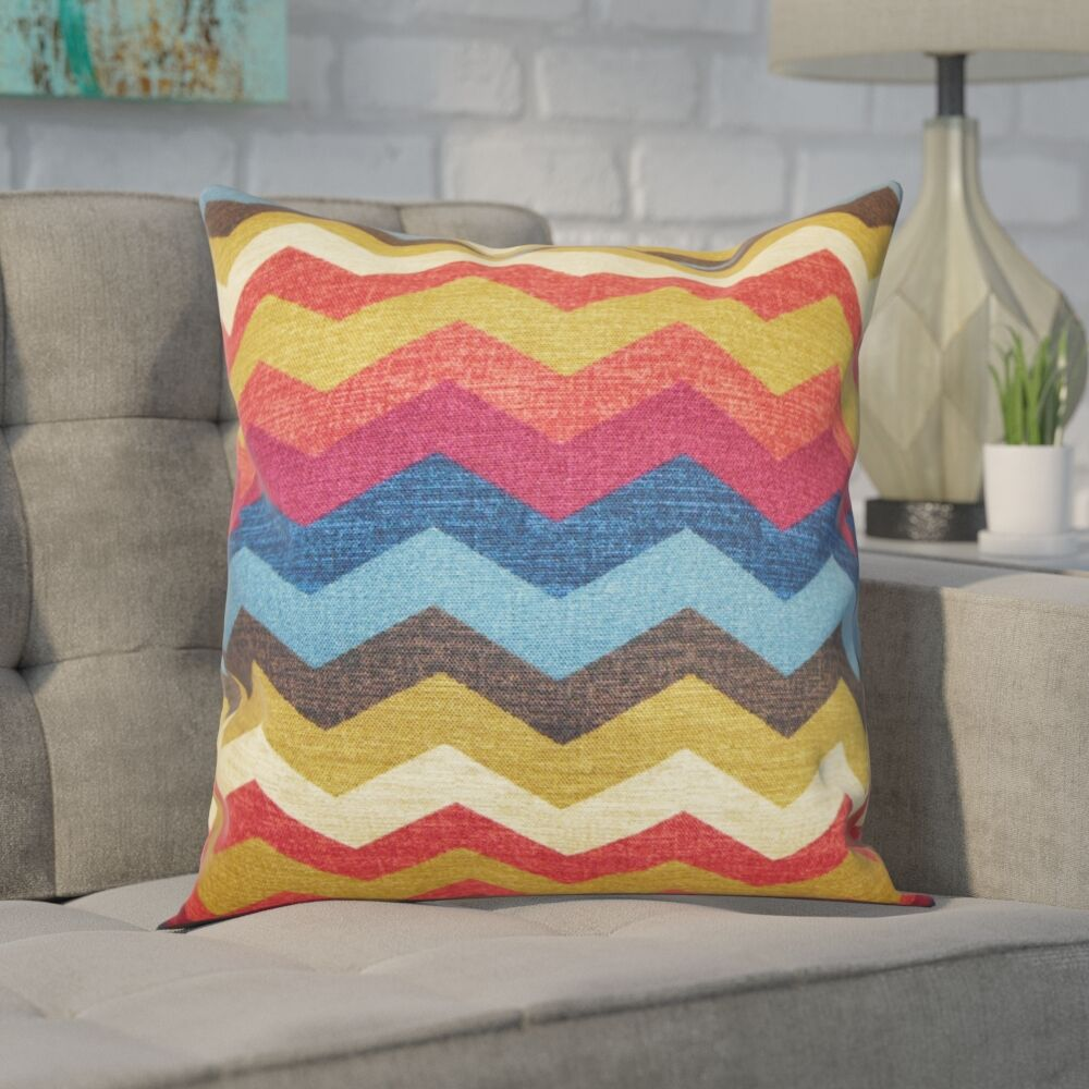 Espinal Zigzag Cotton Throw Pillow Color: Gem, Size: 20