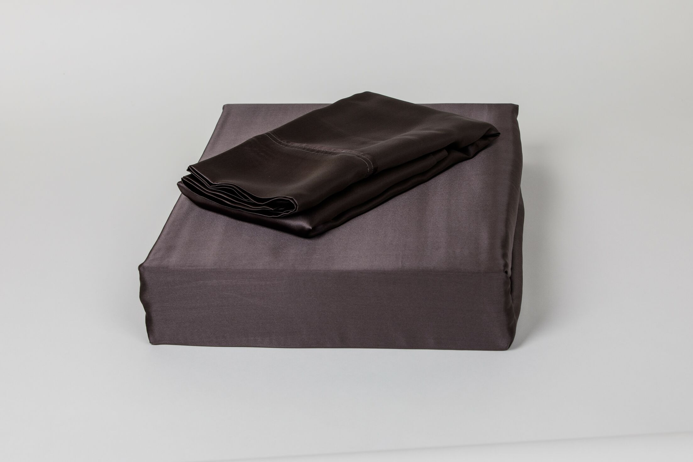 Dorey Silk Sheet Set Color: Charcoal, Size: King