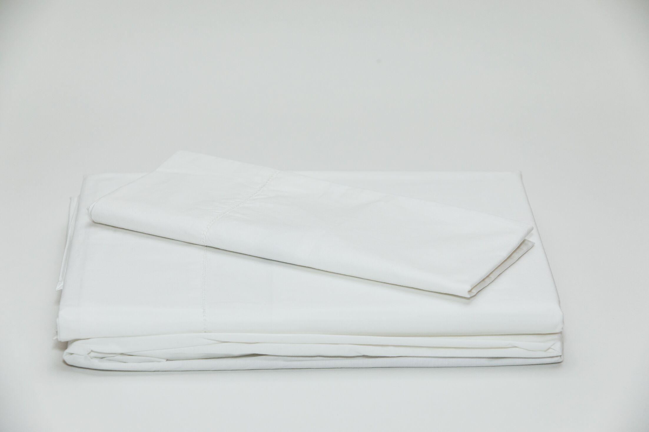 Eugene 250 Thread Count 100% Cotton Sheet Set Size: King, Color: White