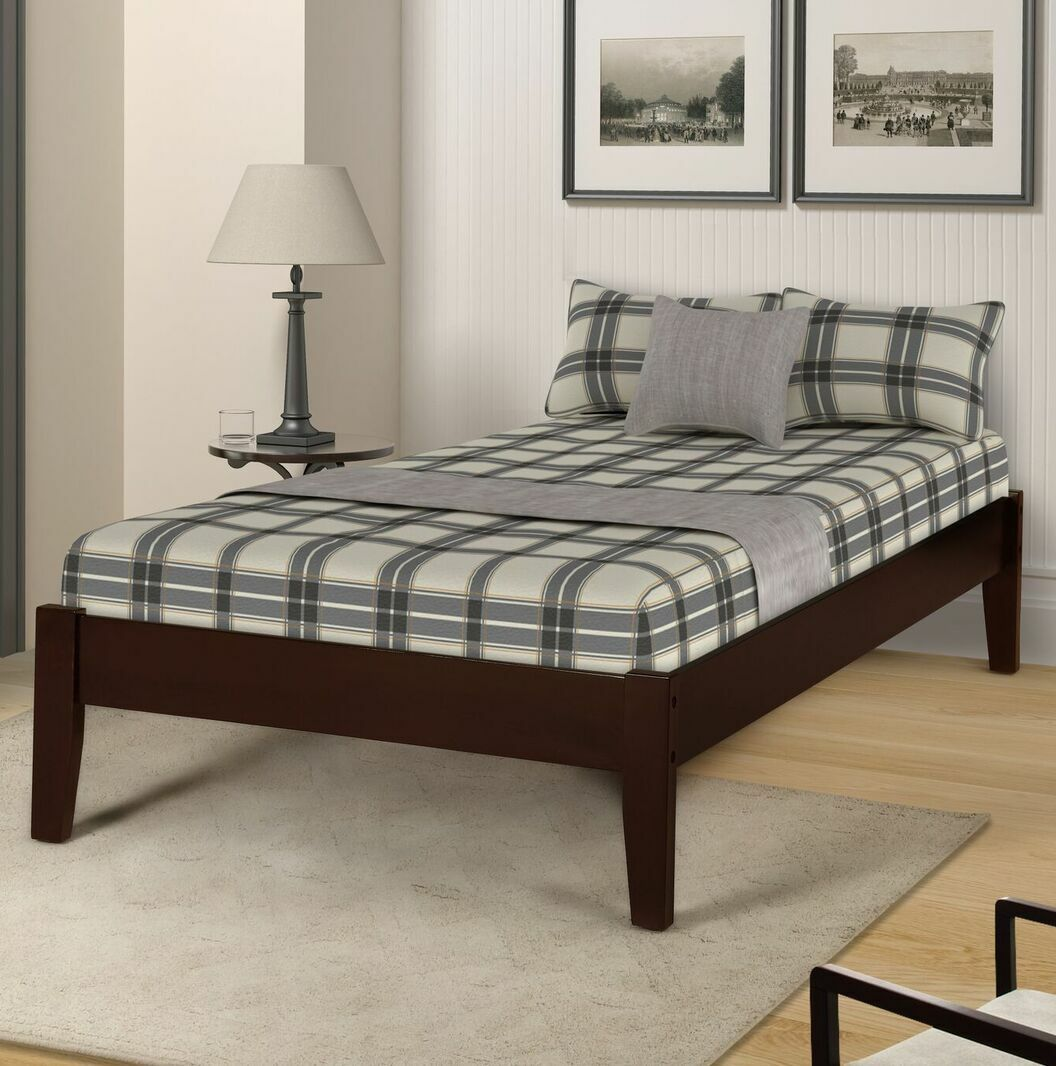Etting Twin Platform Bed Color: Dark Coffee