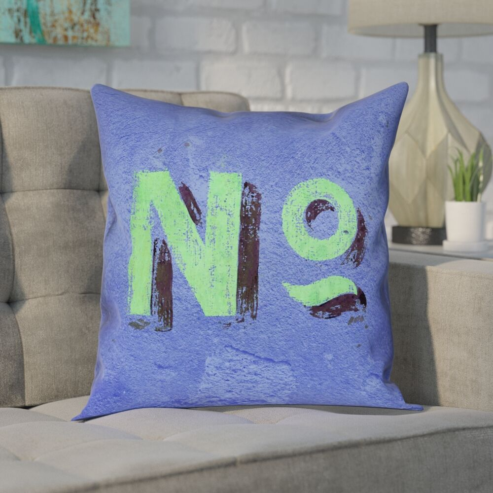 Enciso Graphic Wall 100% Cotton Pillow Cover Size: 20