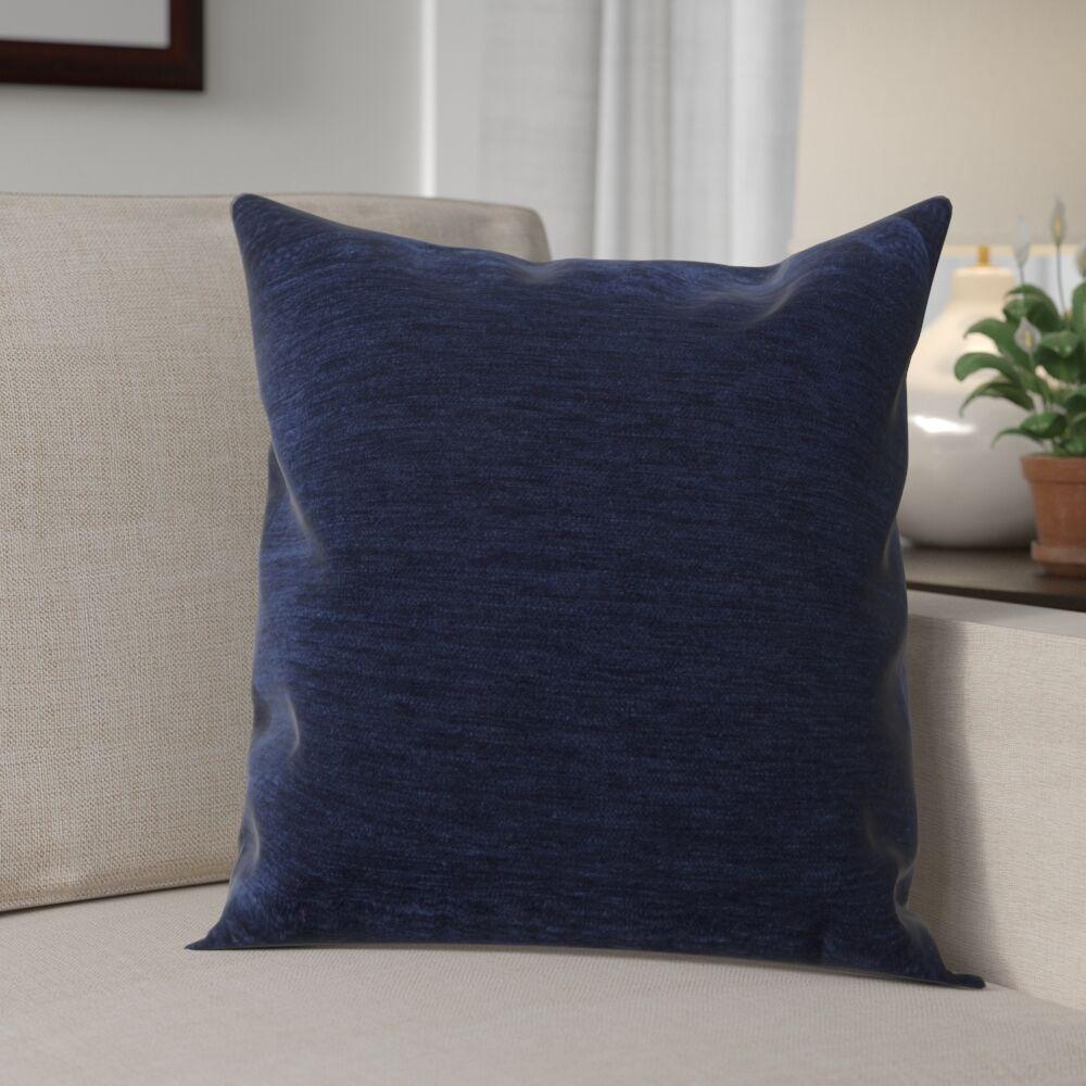 Danin Modern Outdoor Throw Pillow Size: Medium, Color: Navy