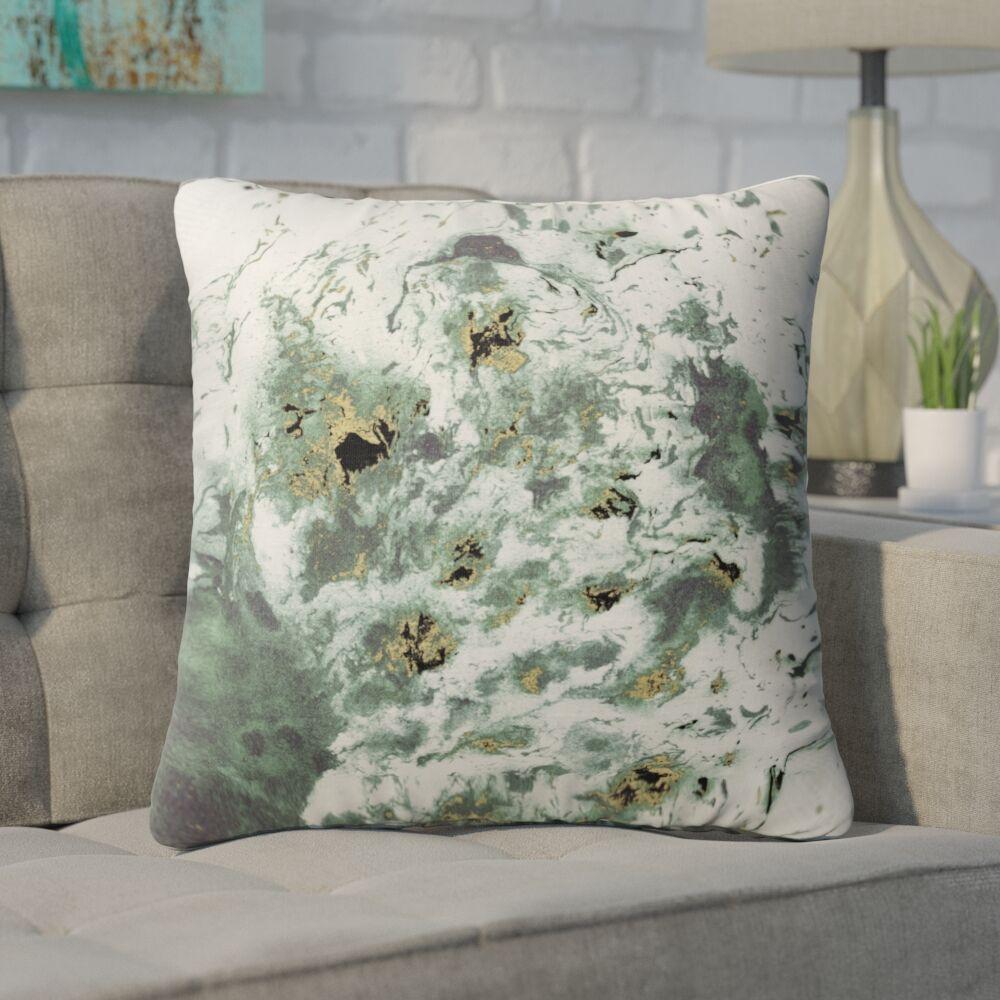 Swaney Throw Pillow Size: 16