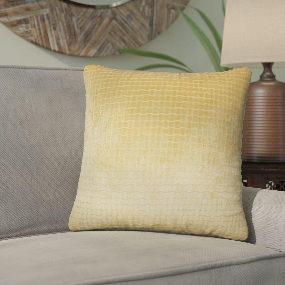 Karen Solid Throw Pillow Color: Camel