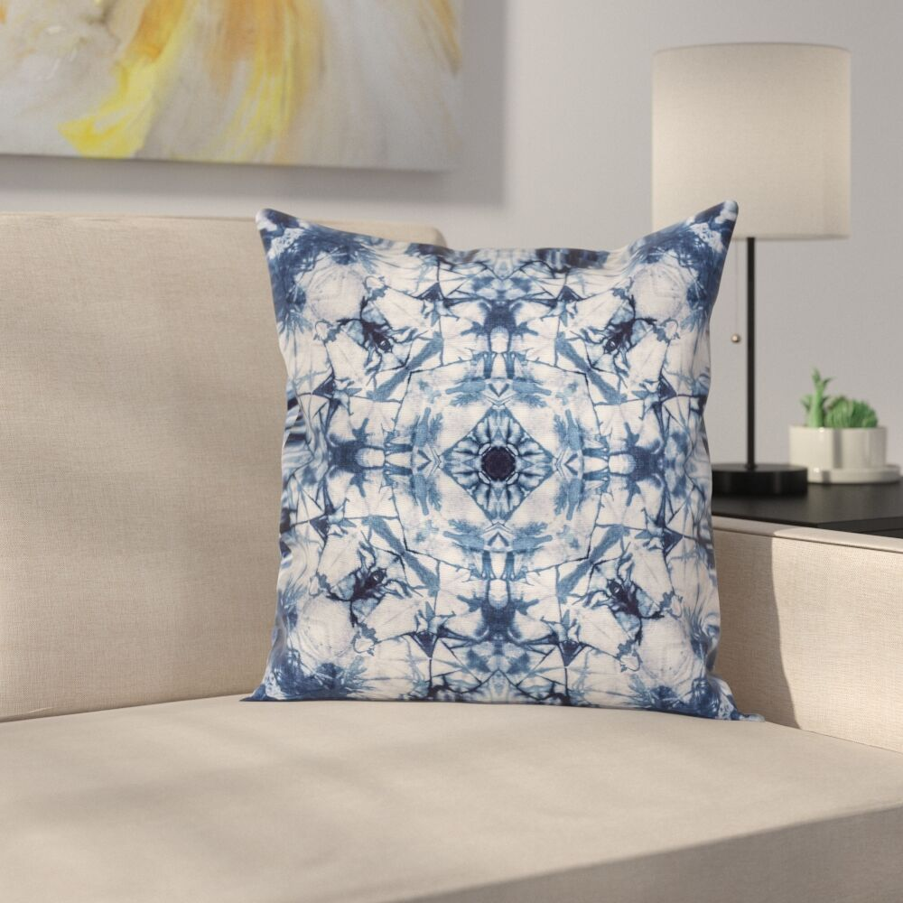 Paisley Old Fashion Art Square Pillow Cover Size: 18