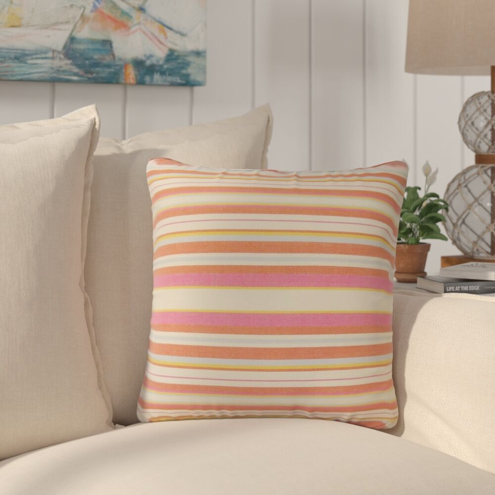 Sawyers Striped Cotton Throw Pillow