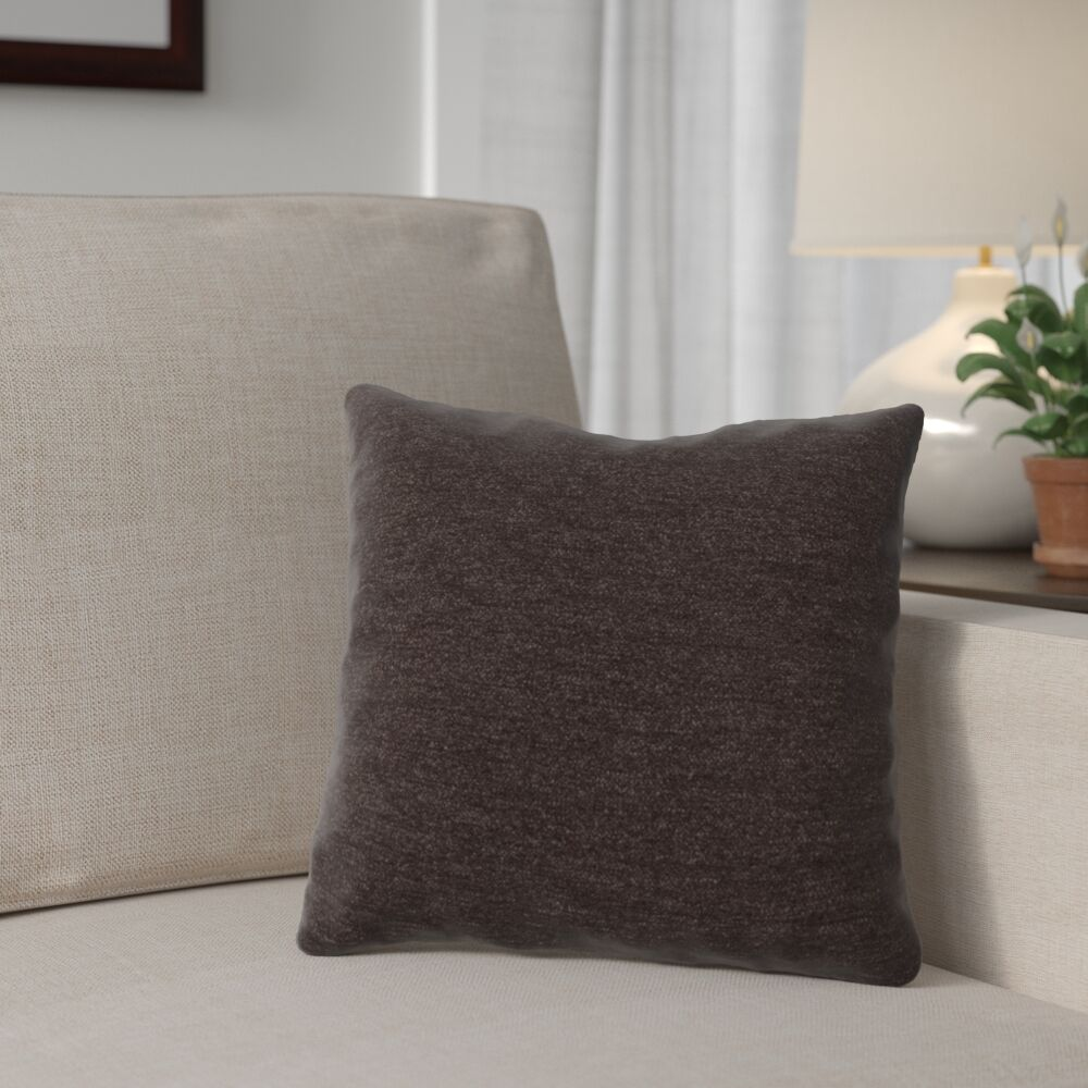 Danin Outdoor Throw Pillow Size: Small, Color: Chocolate