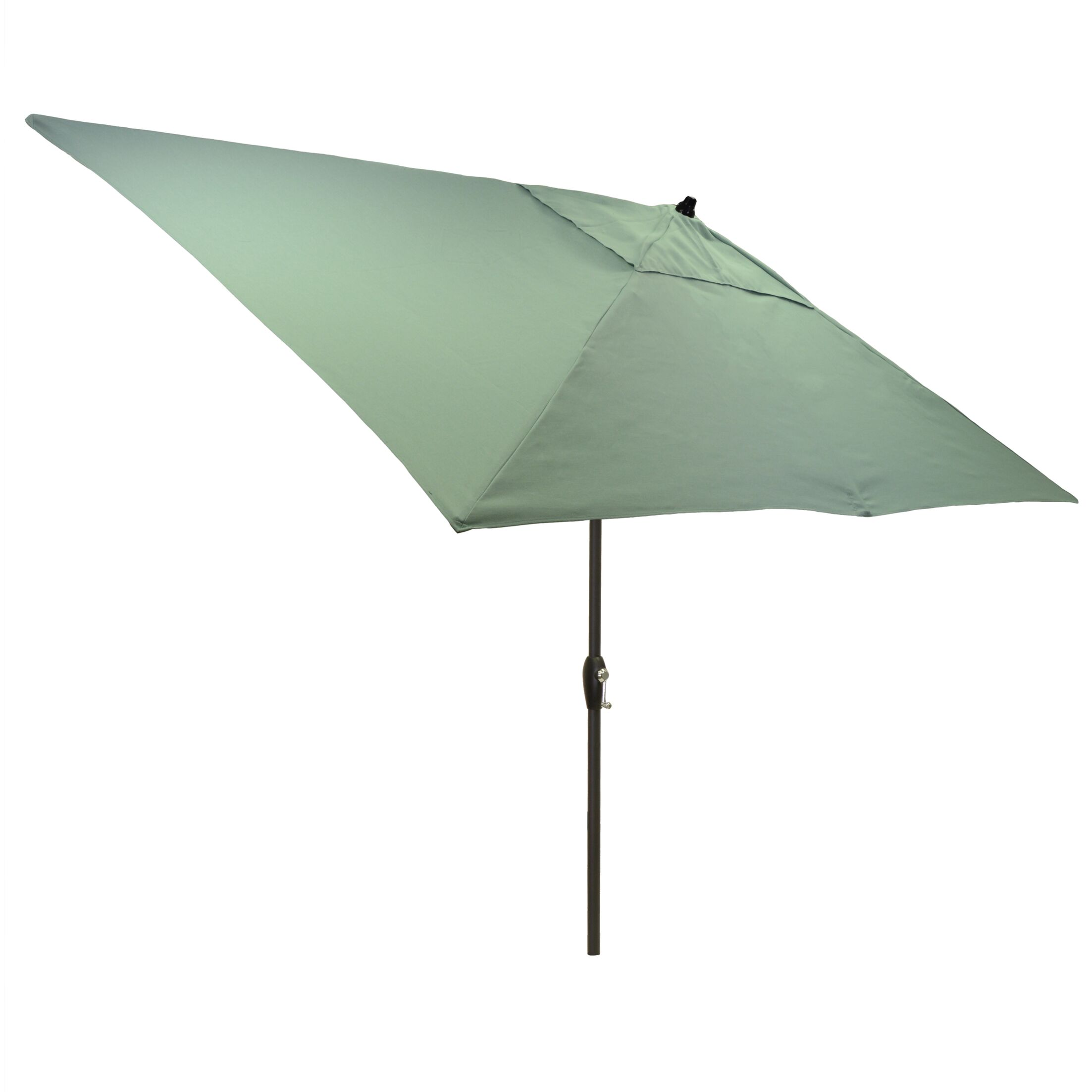 Hulme Solid 6.5' x 10' Rectangular Market Umbrella Fabric Color: Aqua