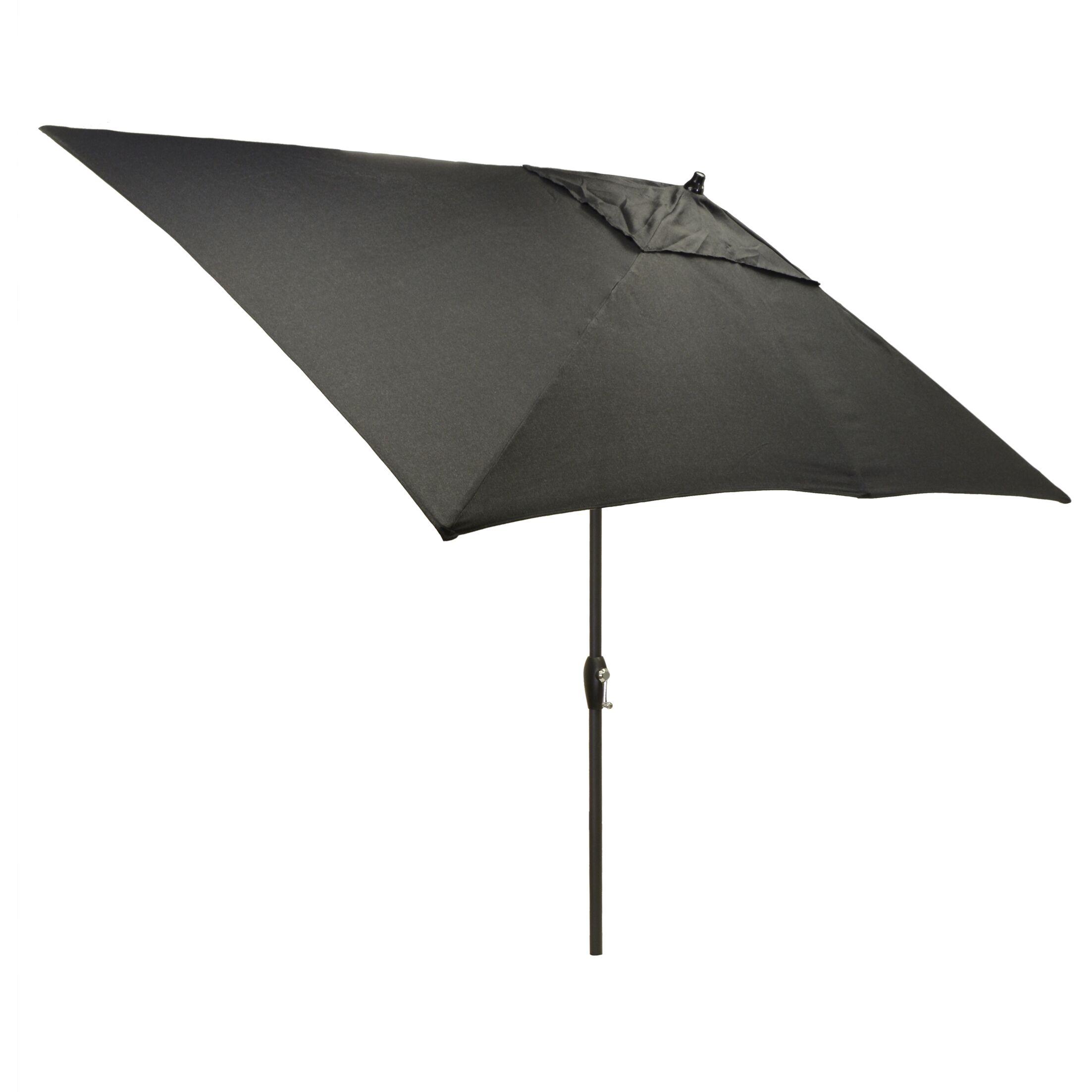 Hulme Solid 6.5' x 10' Rectangular Market Umbrella Fabric Color: Black
