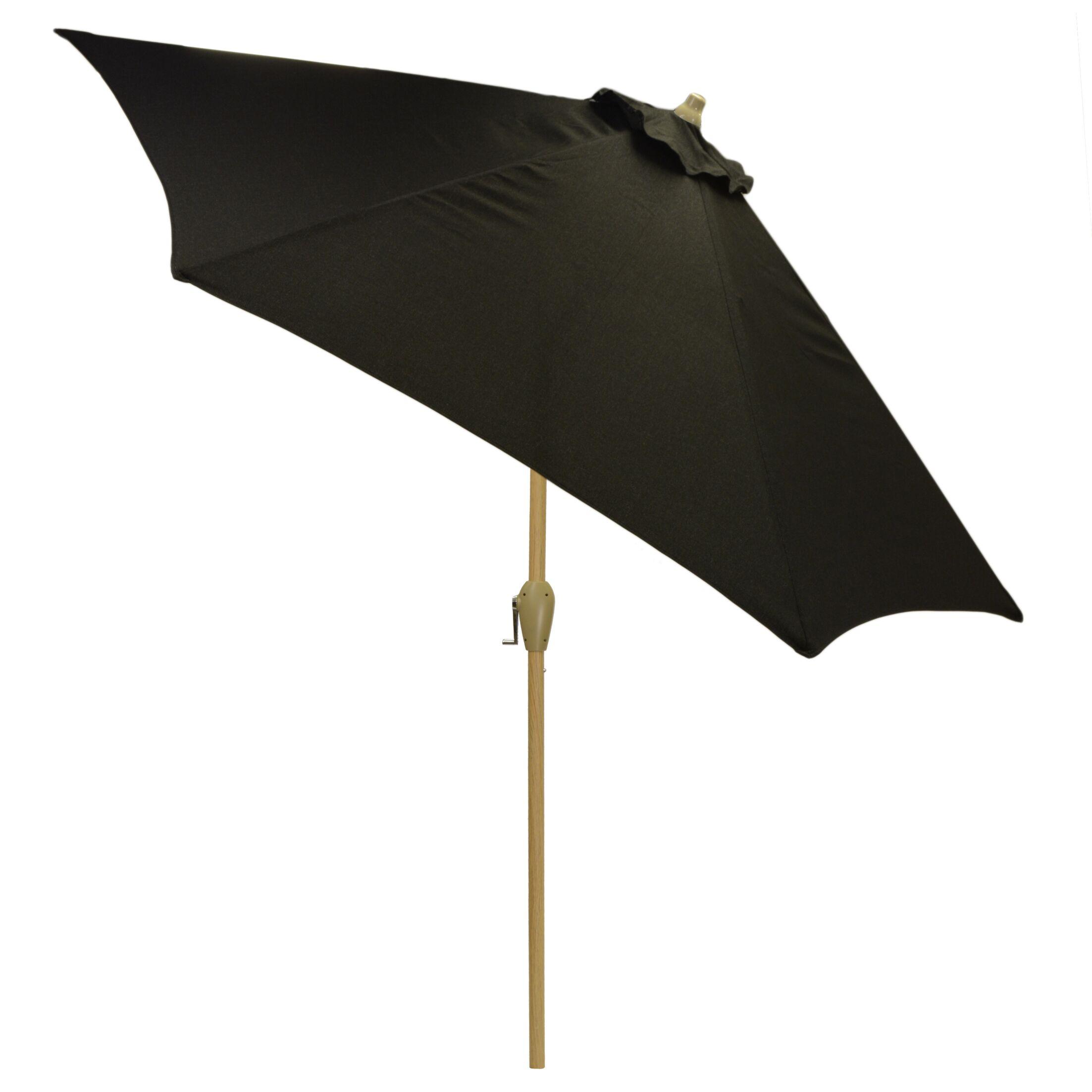 Hulme Solid 8.9' Market Umbrella Fabric Color: Black