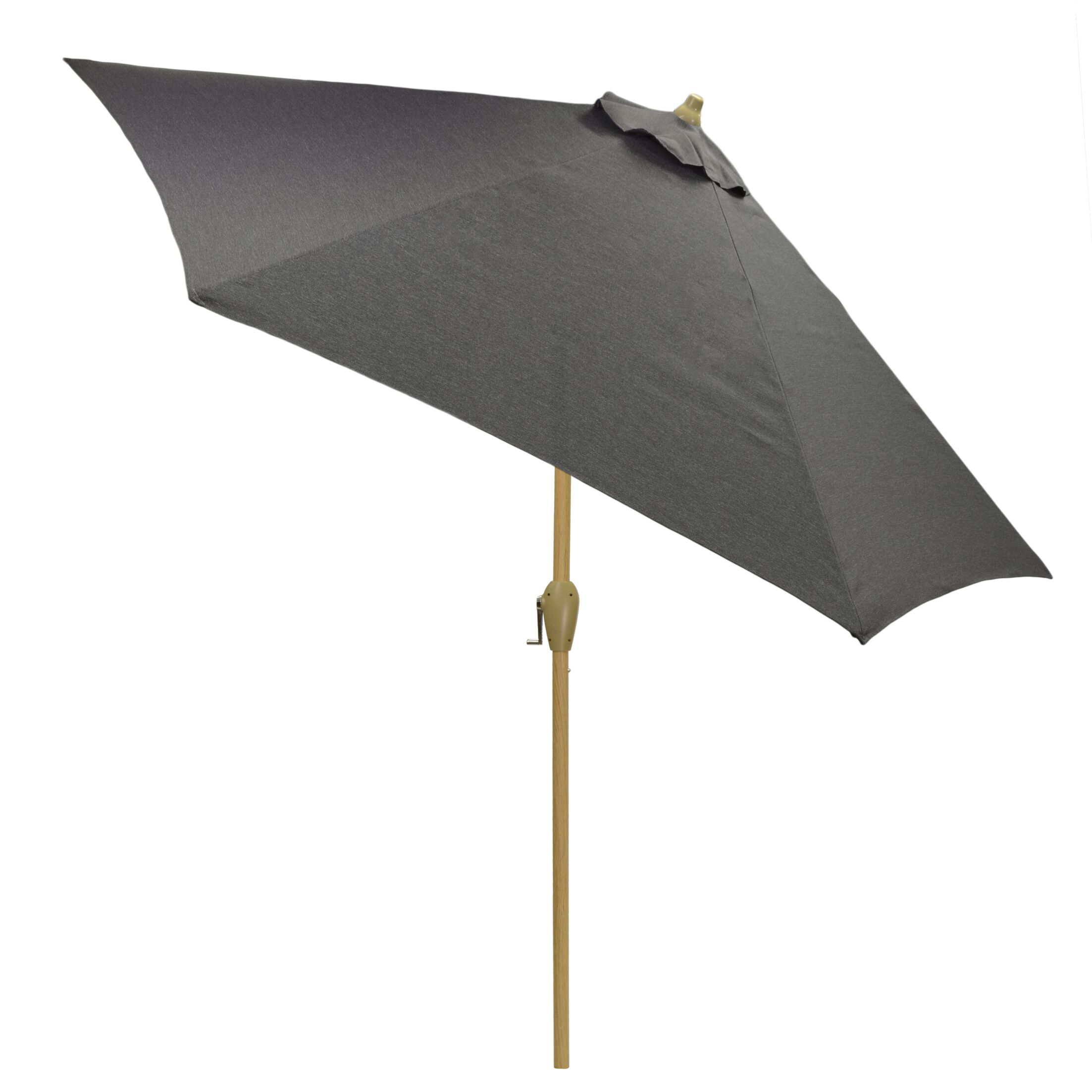 Hulme Solid 8.9' Market Umbrella Fabric Color: Charcoal