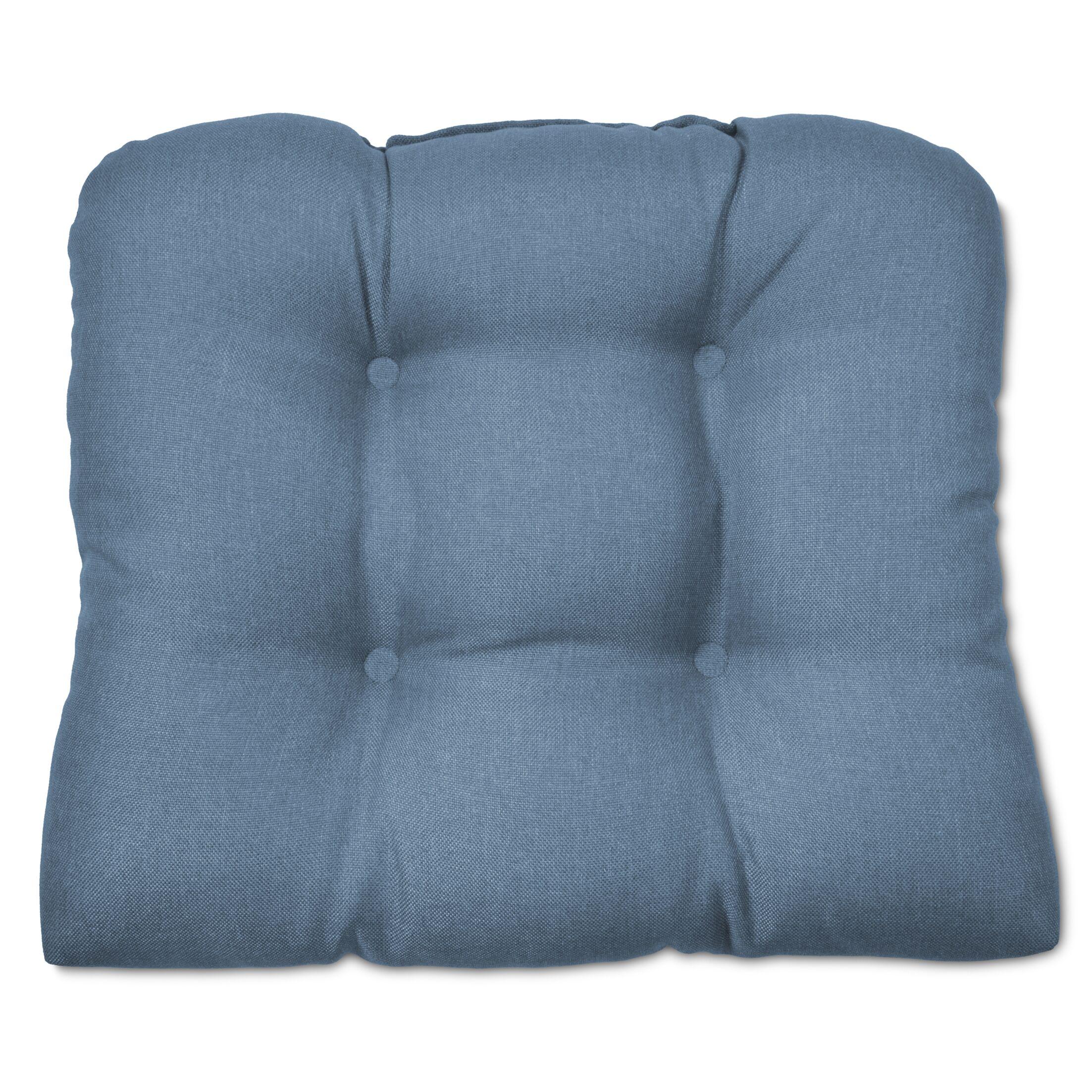 OutdoorDining Chair Cushion Fabric: Medium Blue