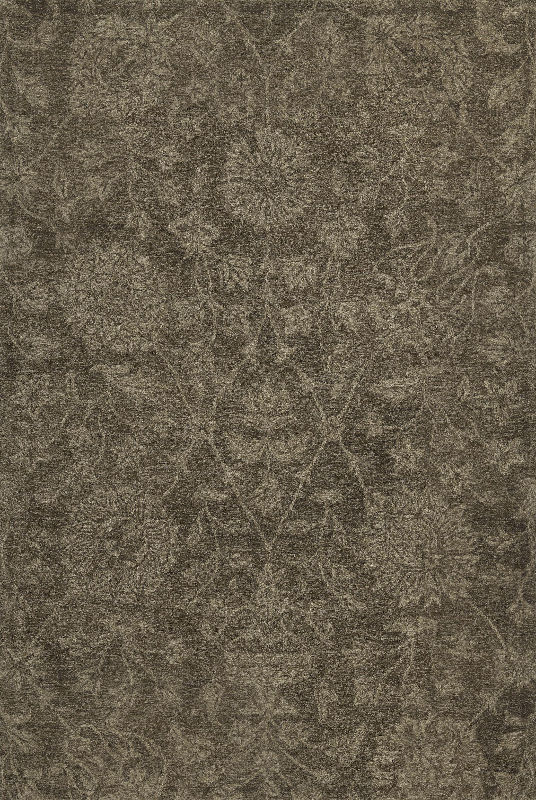 Chatmon Hand-Tufted Wool Mocha Area Rug Rug Size: Rectangle 9' x 13'