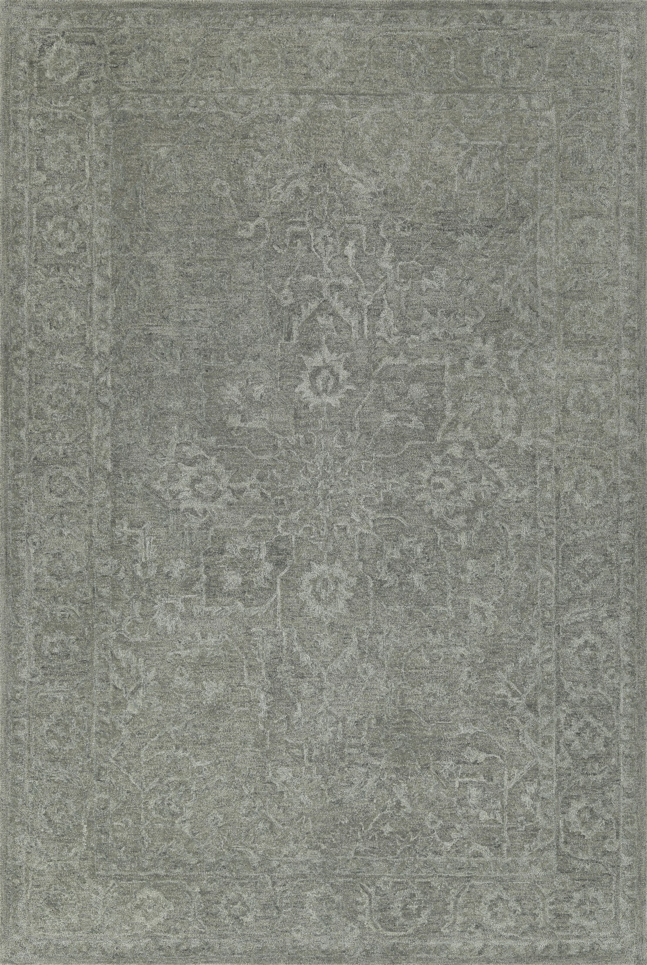 Chatmon Hand-Tufted Wool Silver Area Rug Rug Size: Rectangle 8' x 10'
