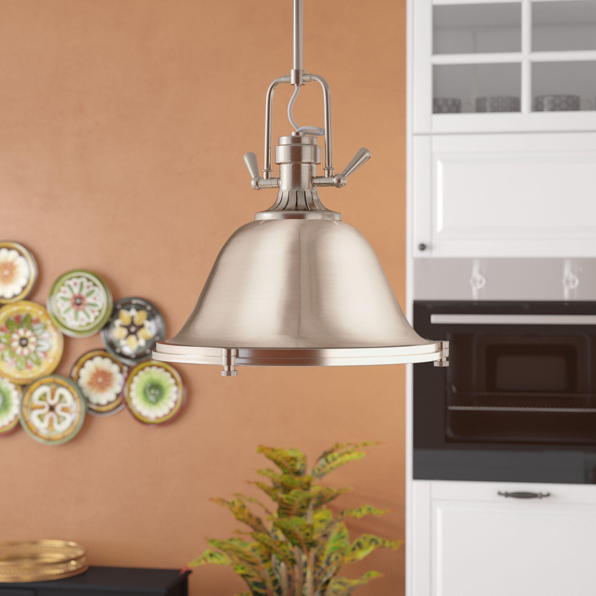 Chiaramonte 2-Light Bell Pendant Finish: Brushed Nickel