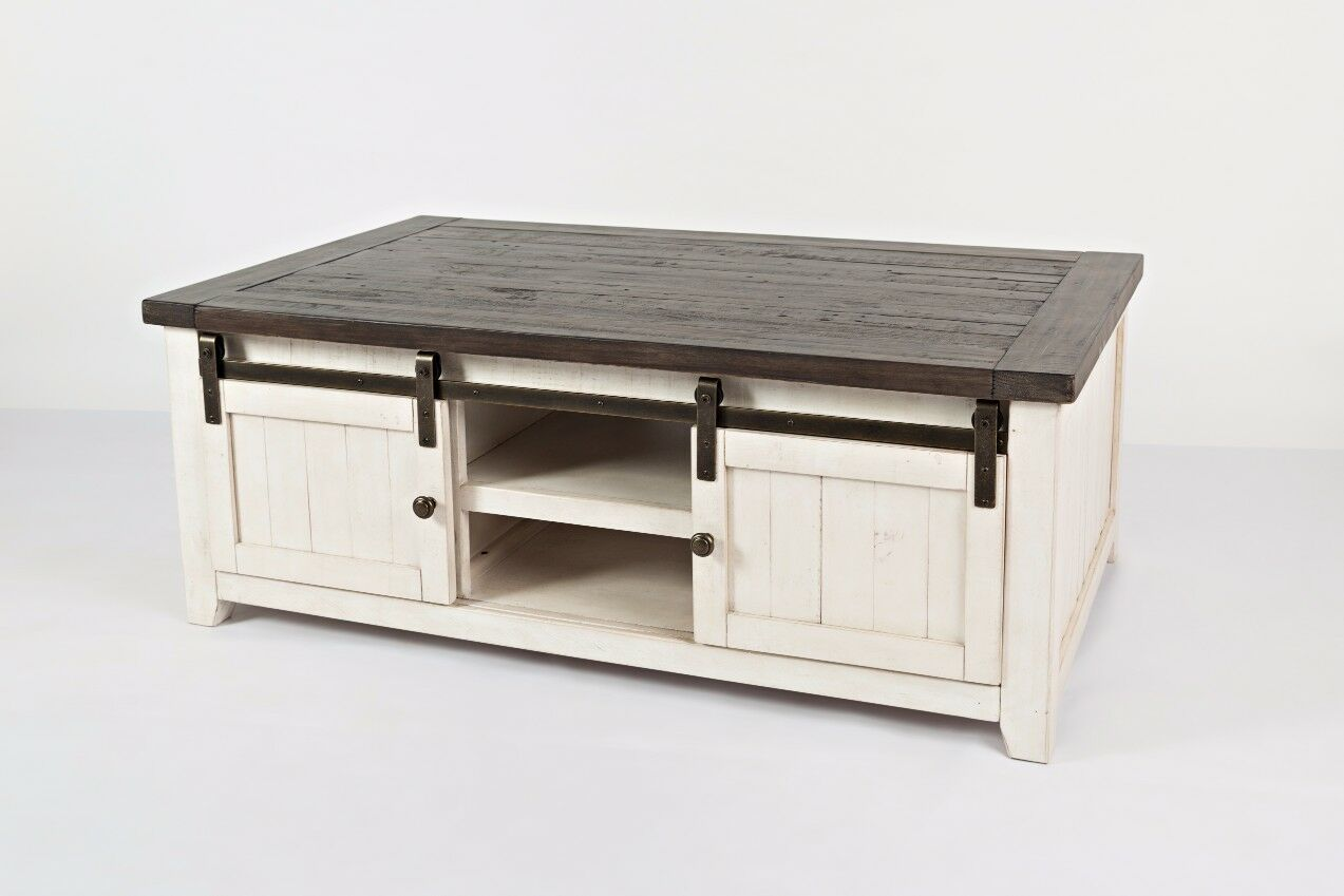 Westhoff Coffee Table with Storage Color: White