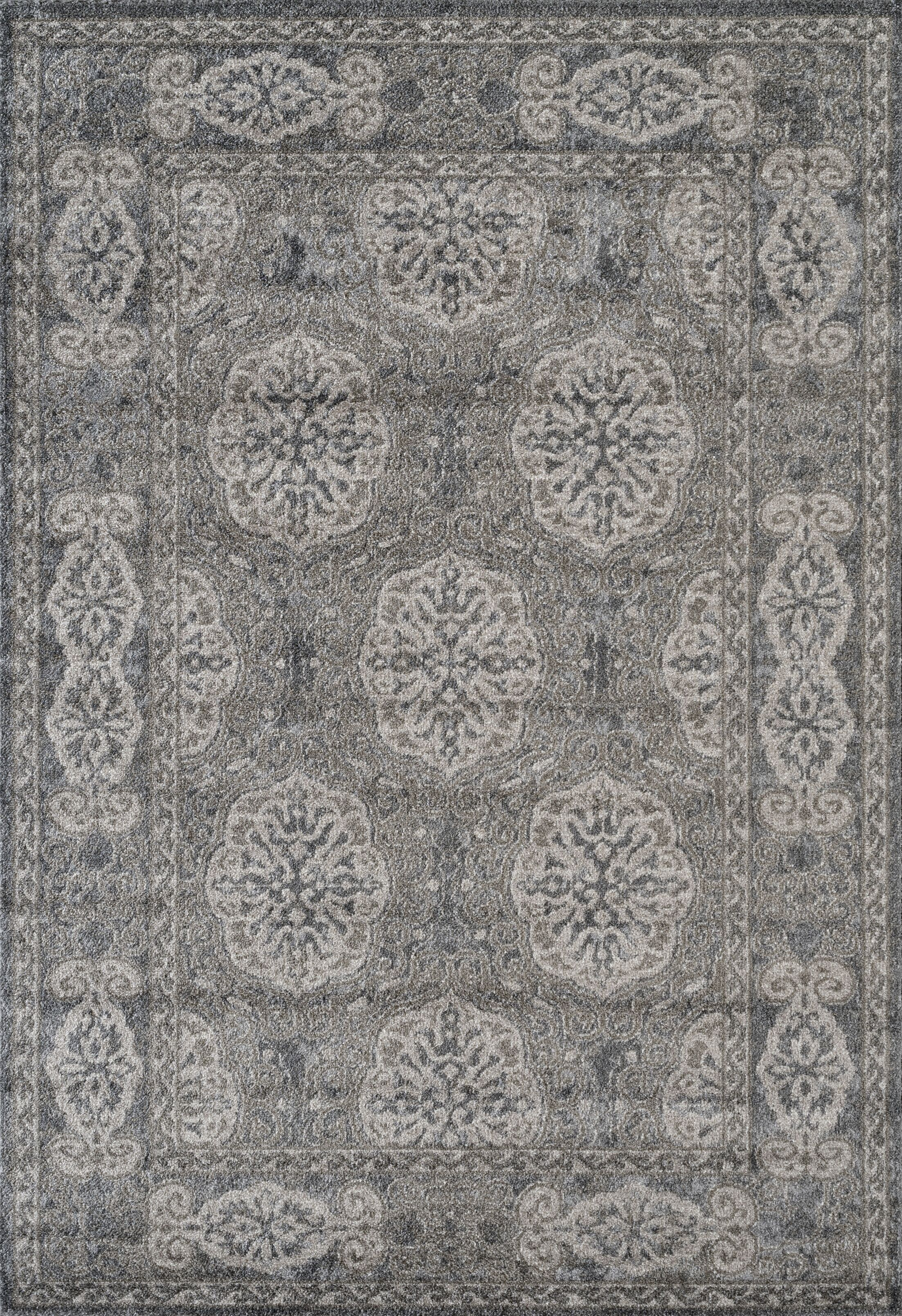 Honig Transitional Gray Area Rug Rug Size: Rectangle 7'9