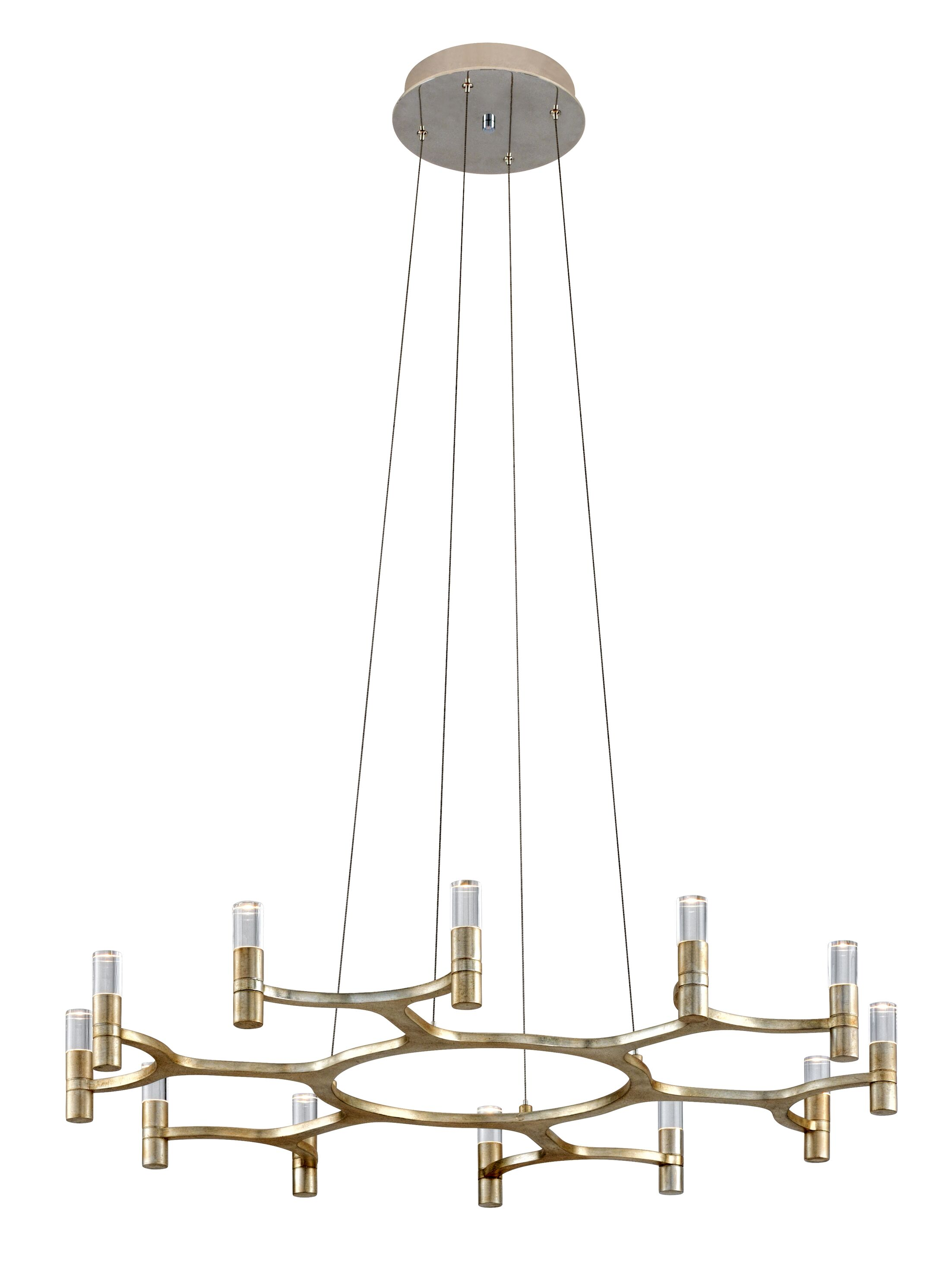 Nexus 12-Light LED Geometric Chandelier