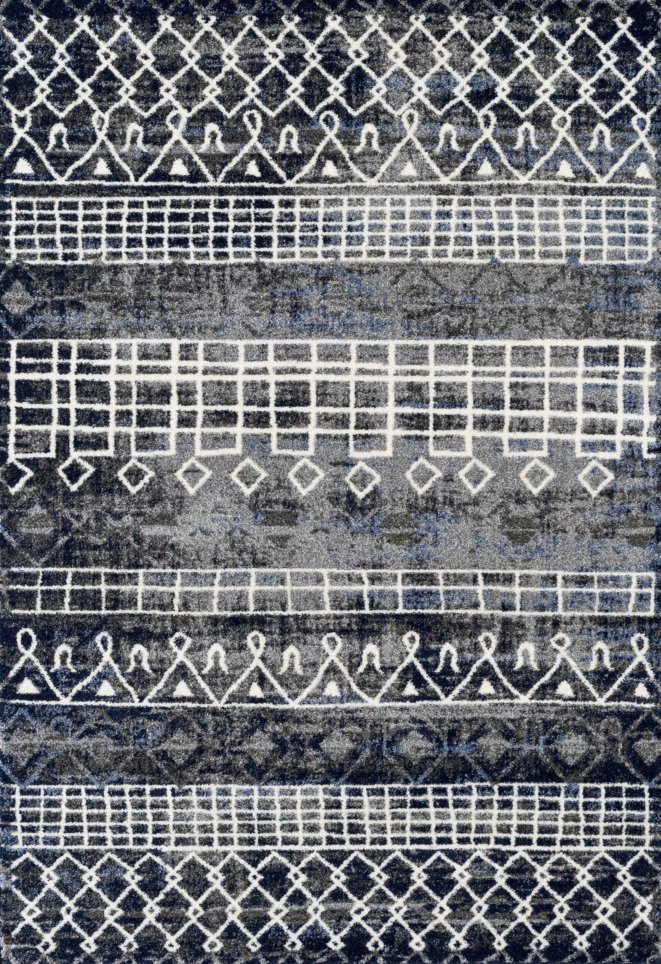 Mantz Modern Charcoal Area Rug Rug Size: Rectangle 7'10