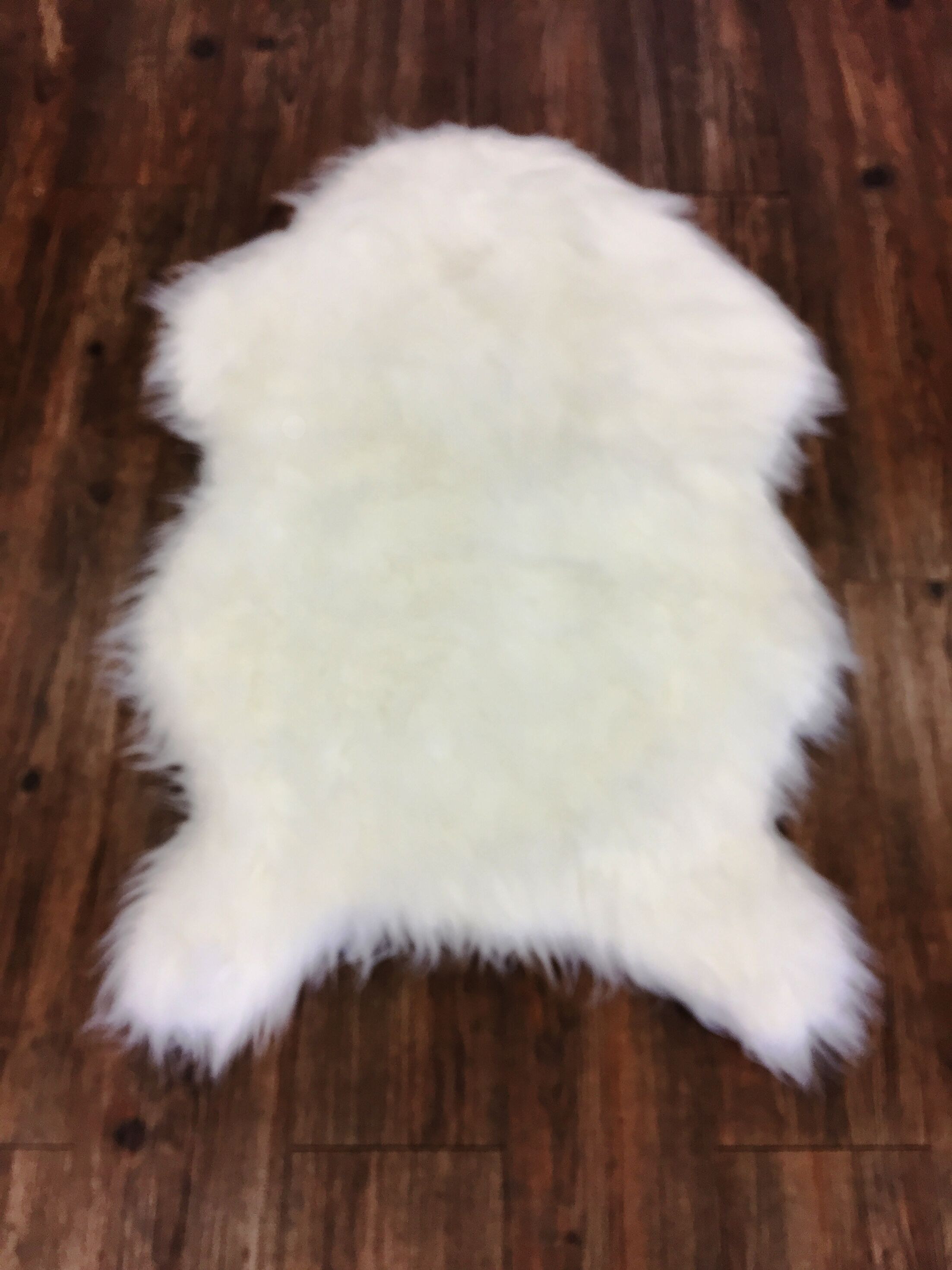 Merrell Novelty Faux Fur Ivory Area Rug