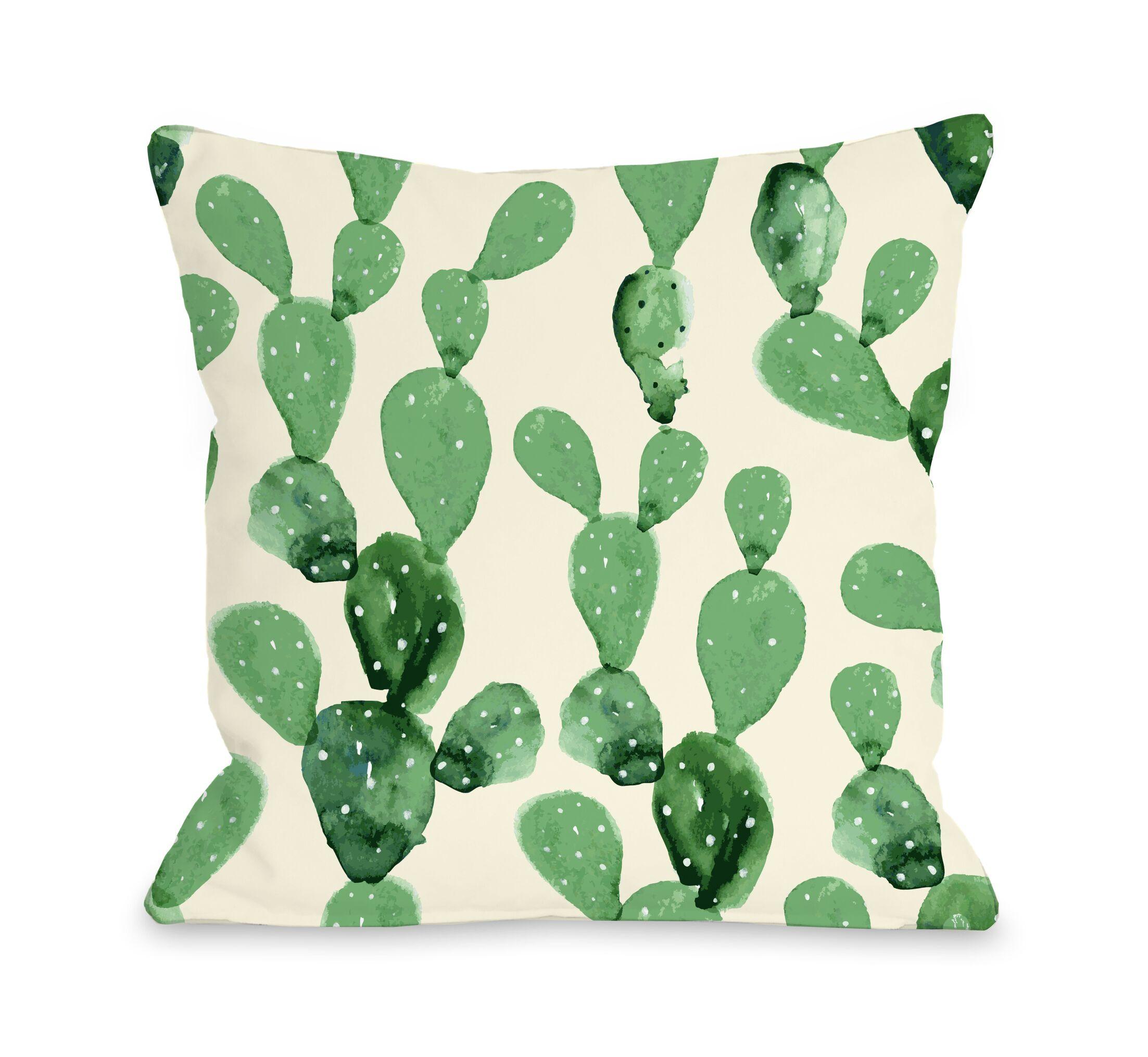 Dovercourt Cacti Columns Outdoor Throw Pillow Size: 16