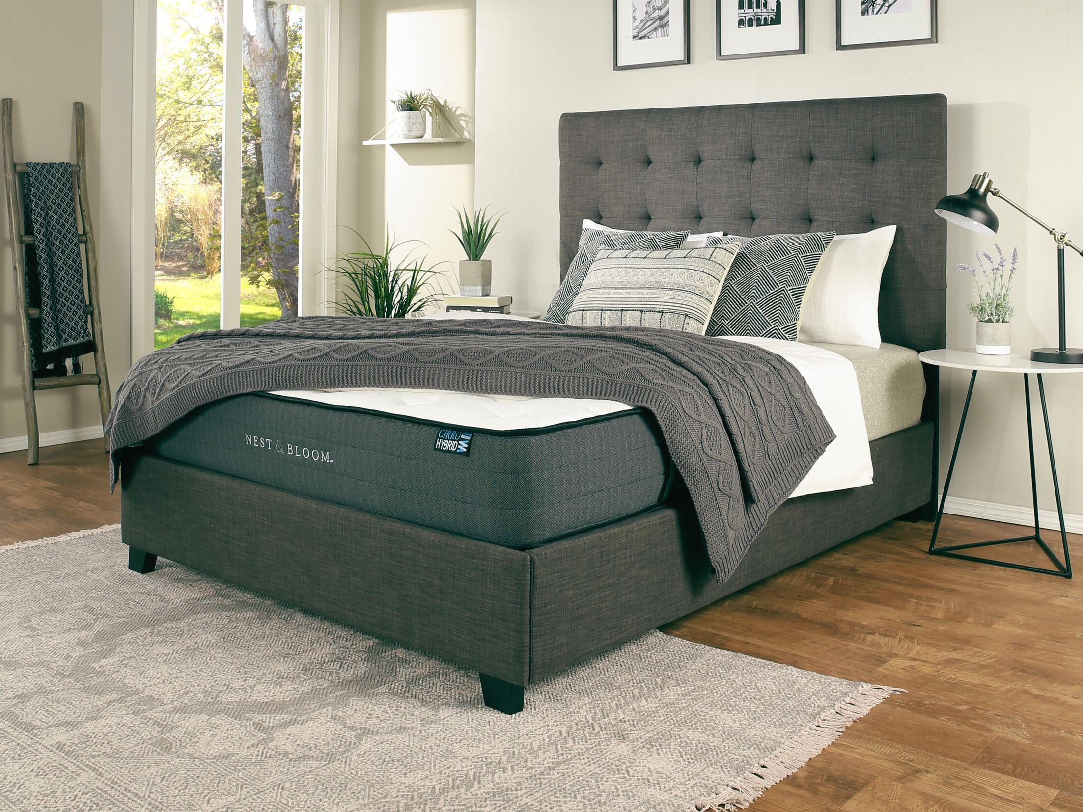 Almendarez Upholstered Platform Bed with Mattress Size: California King, Color: Gray